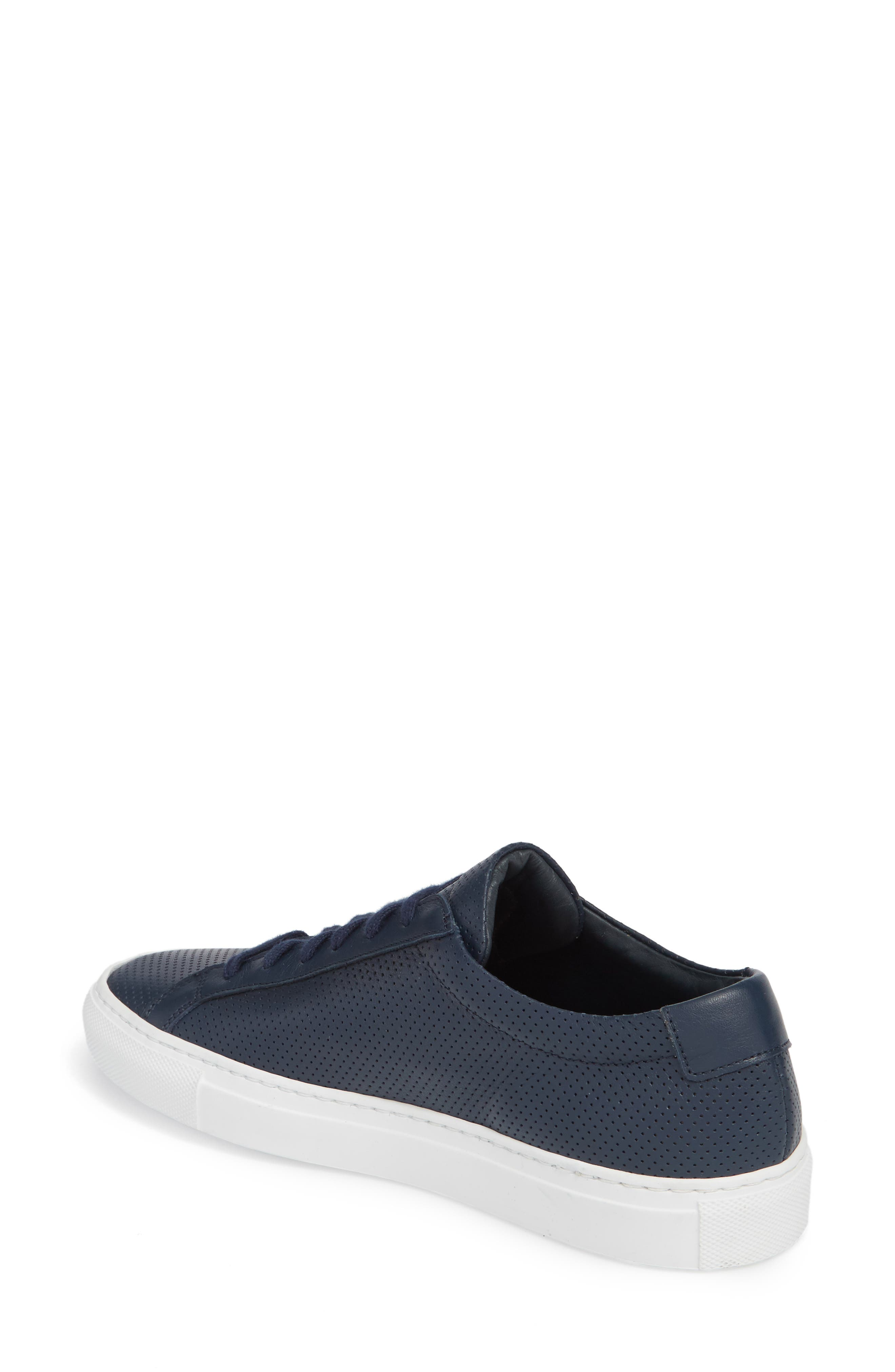 Original Achilles Perforated Low Sneaker,                             Alternate thumbnail 2, color,                             Navy