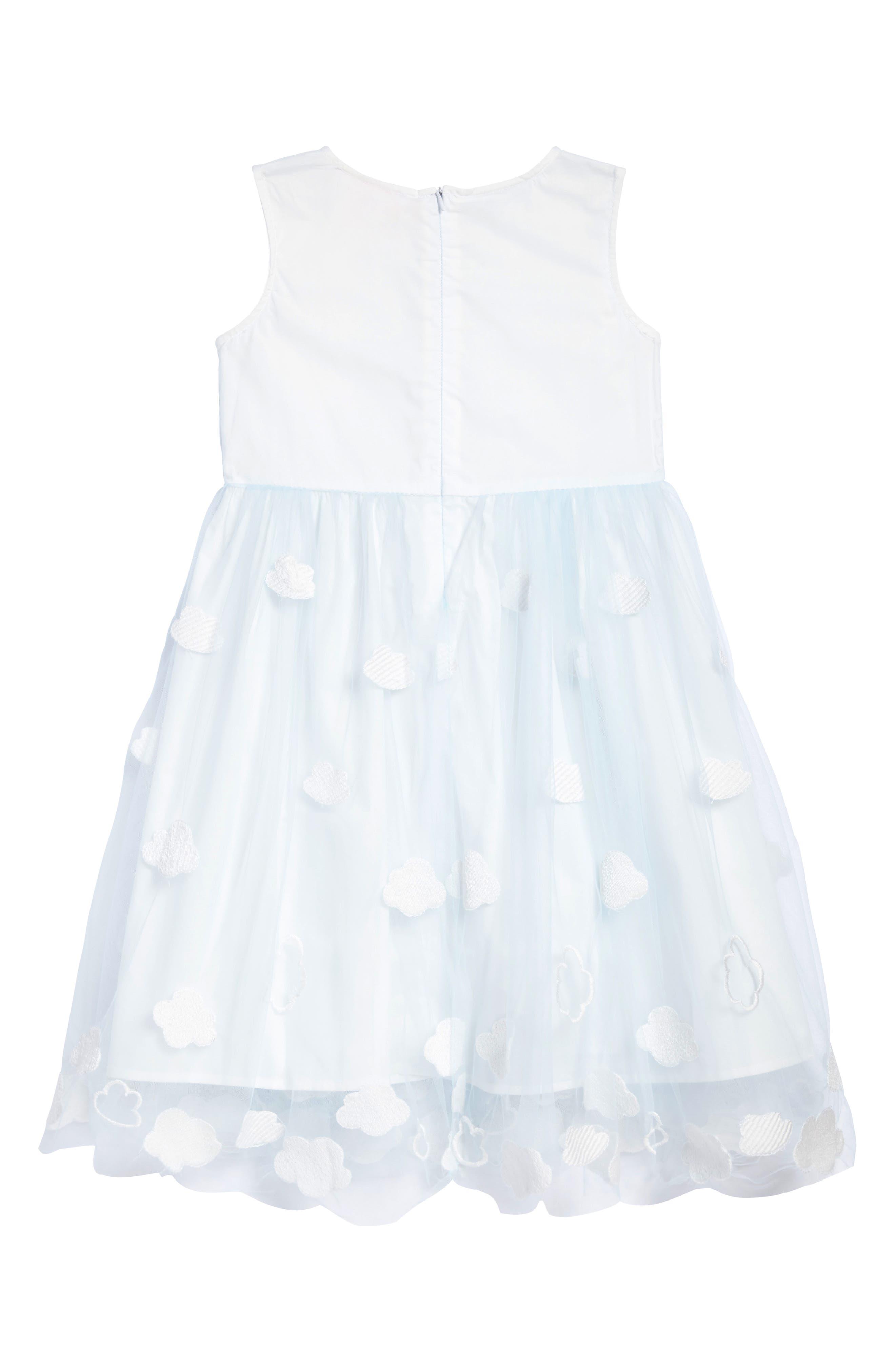 Alternate Image 2  - Popatu Embroidered Cloud Dress (Toddler Girls, Little Girls & Big Girls)