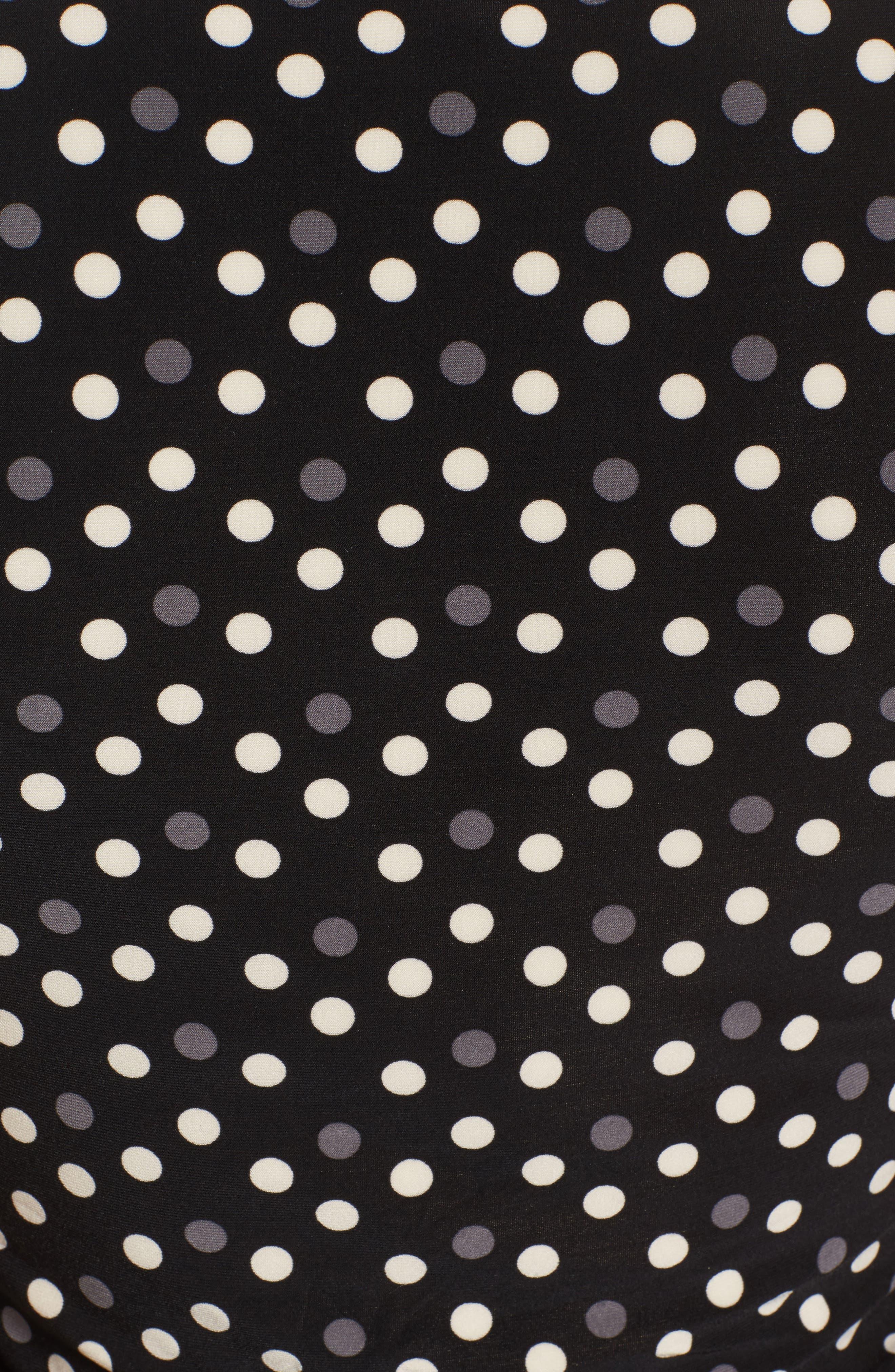 Alternate Image 5  - Anne Klein Splashy Dot Matte Jersey Top