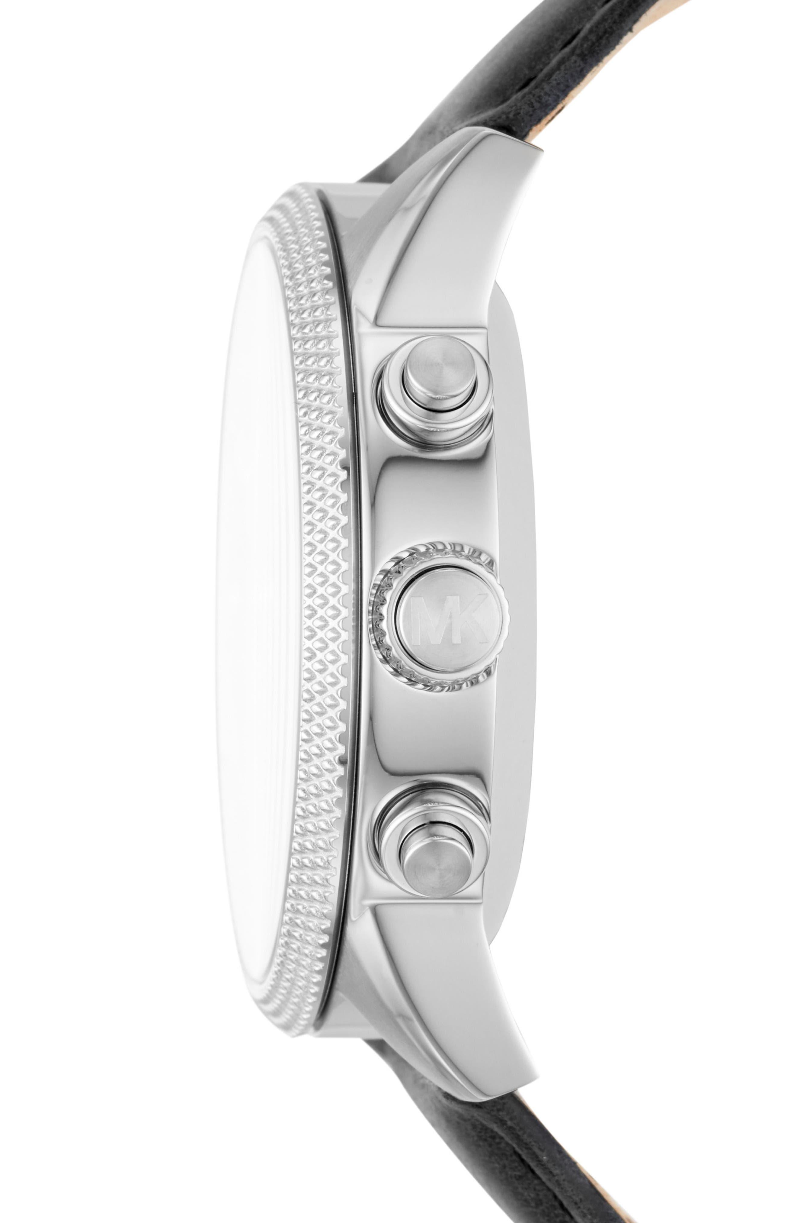 Alternate Image 2  - Michael Kors Access Scout Hybrid Leather Strap Smart Watch, 43mm