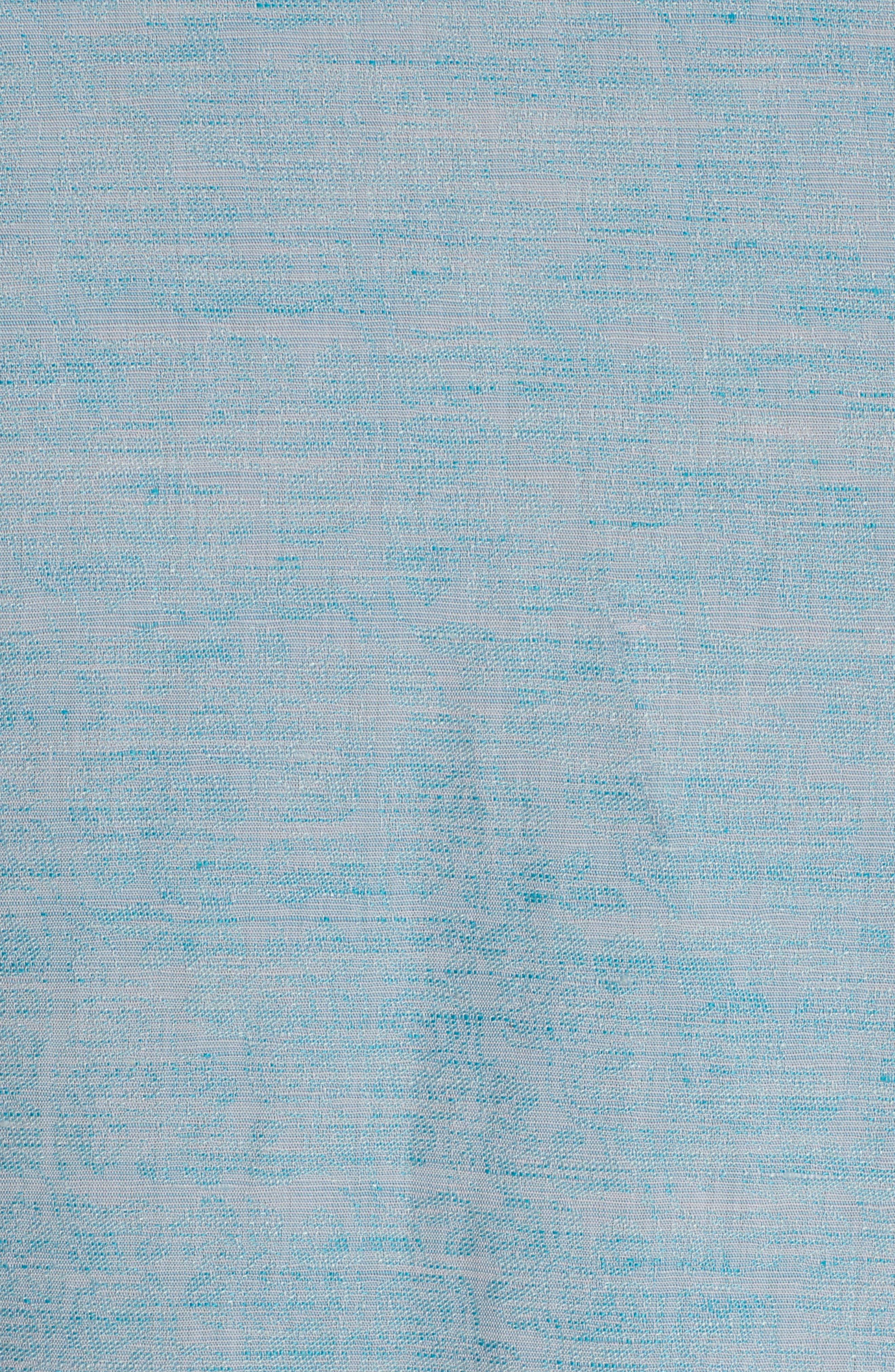 Cyprus Classic Fit Linen & Cotton Sport Shirt,                             Alternate thumbnail 6, color,                             Teal
