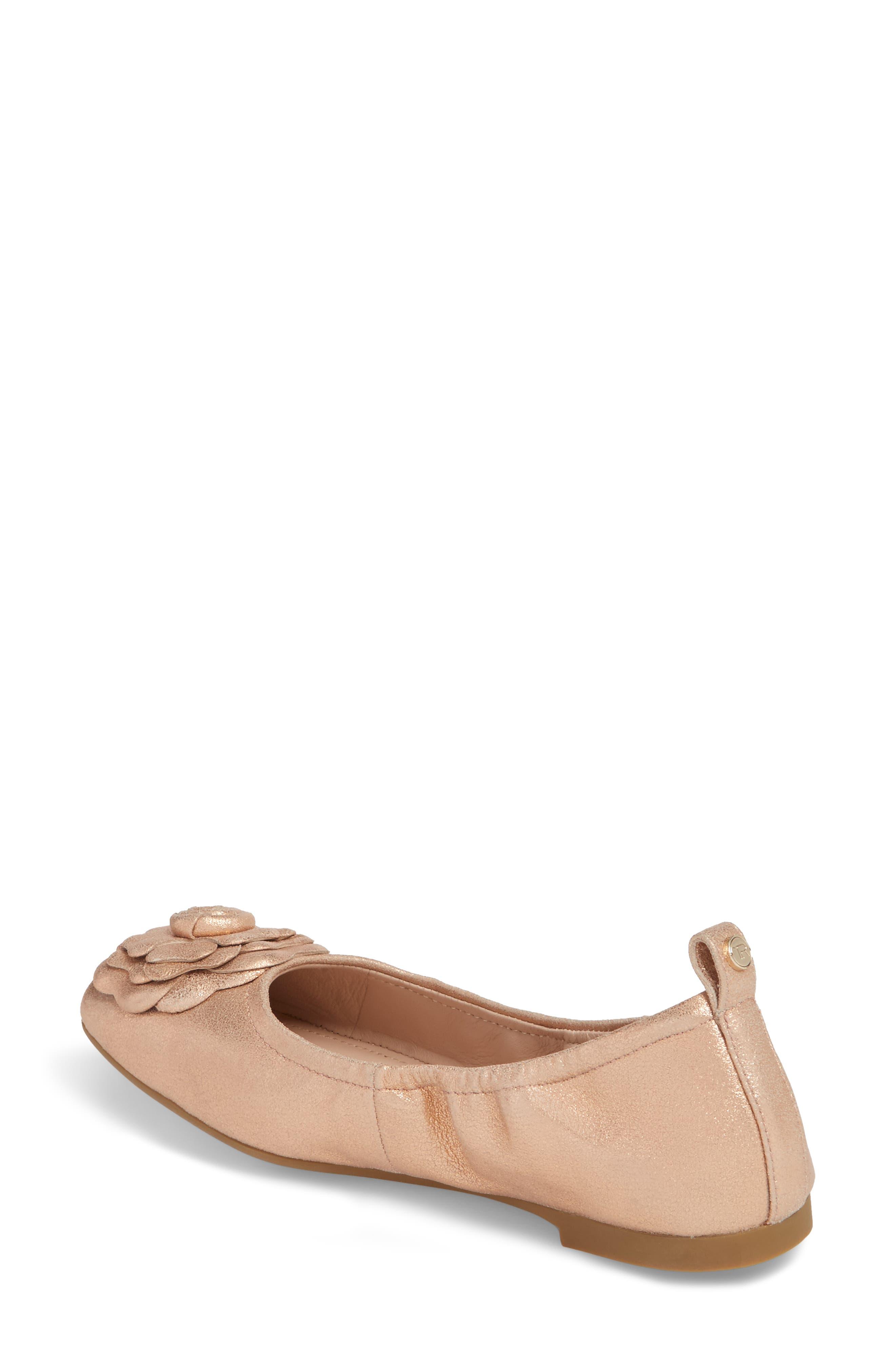 Rosalyn Ballet Flat,                             Alternate thumbnail 2, color,                             Rose Gold Leather