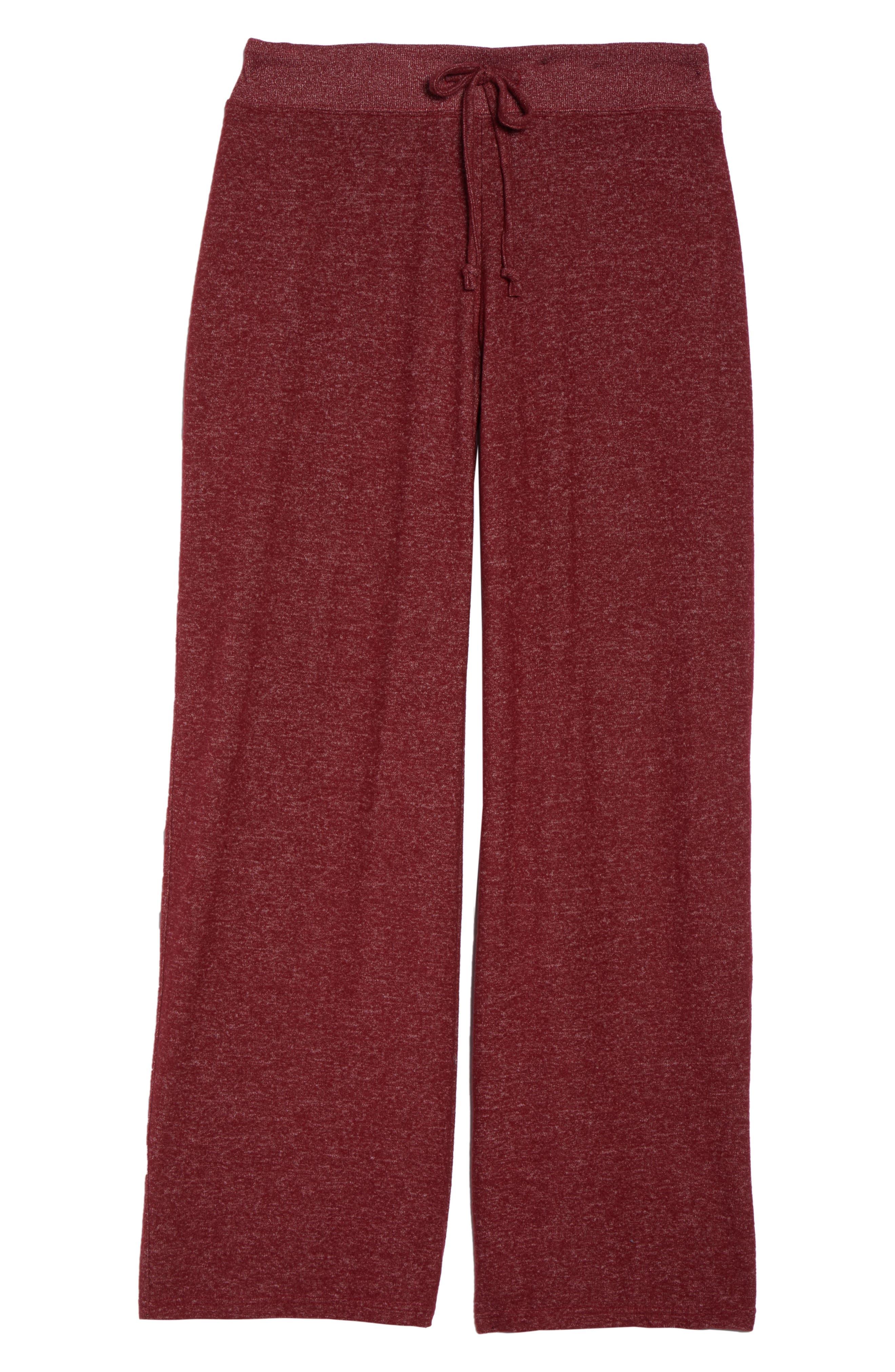 'Best Boyfriend' Brushed Hacci Lounge Pants,                             Alternate thumbnail 7, color,                             Red Grape