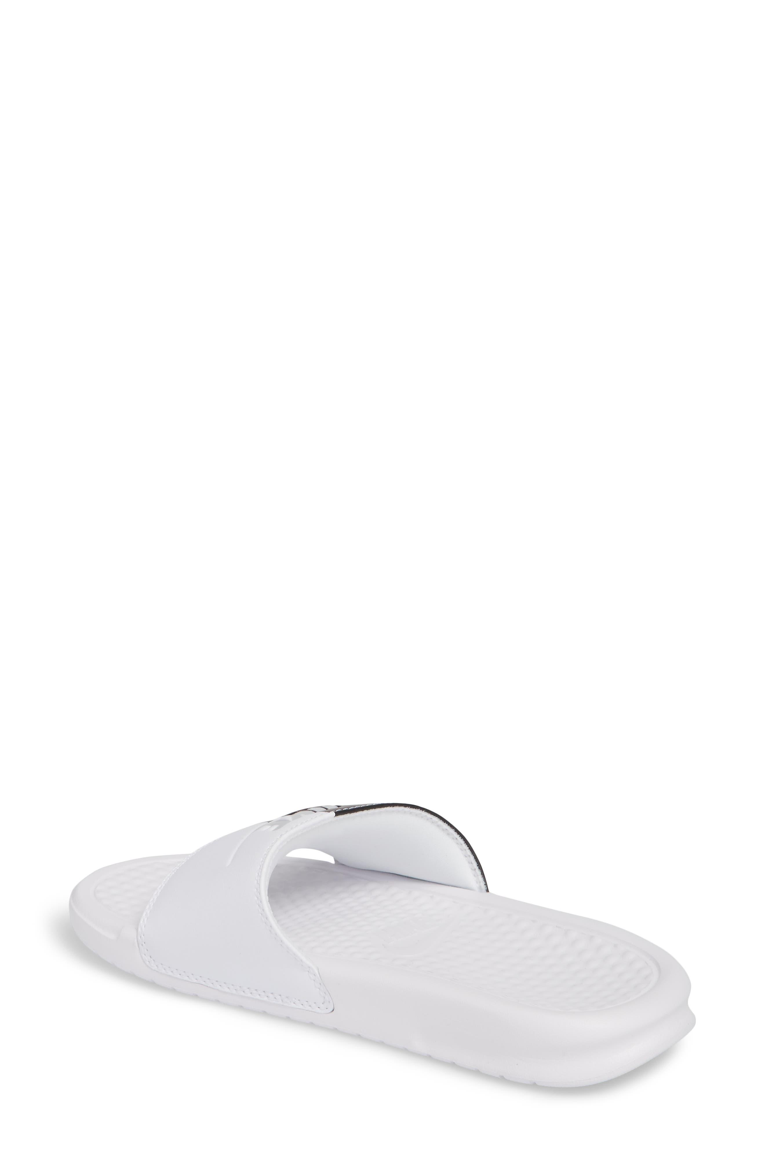 Benassi JDI Slide Sandal,                             Alternate thumbnail 2, color,                             White/ Pure Platinum