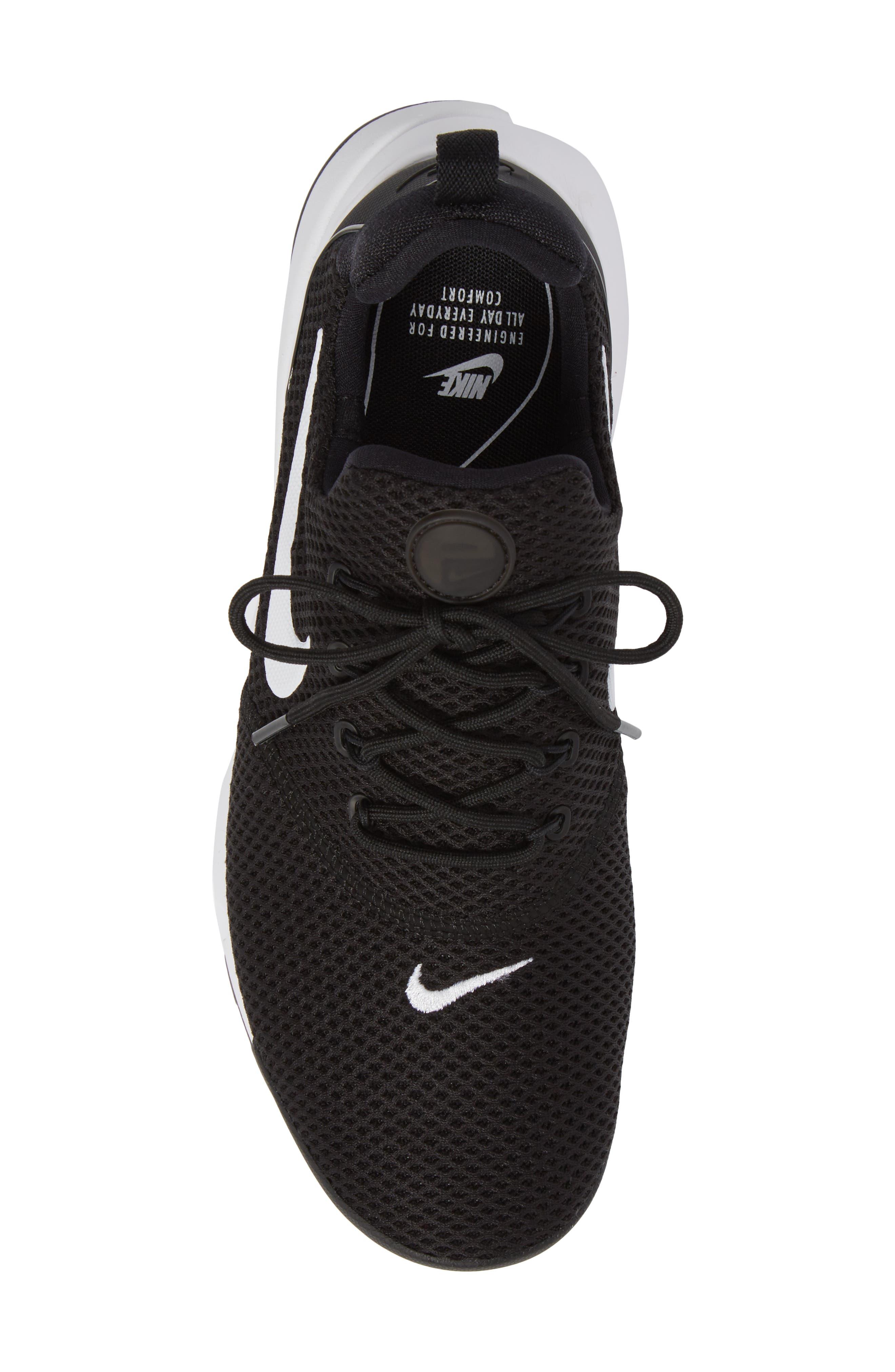Presto Fly Sneaker,                             Alternate thumbnail 5, color,                             Black/ White/ White