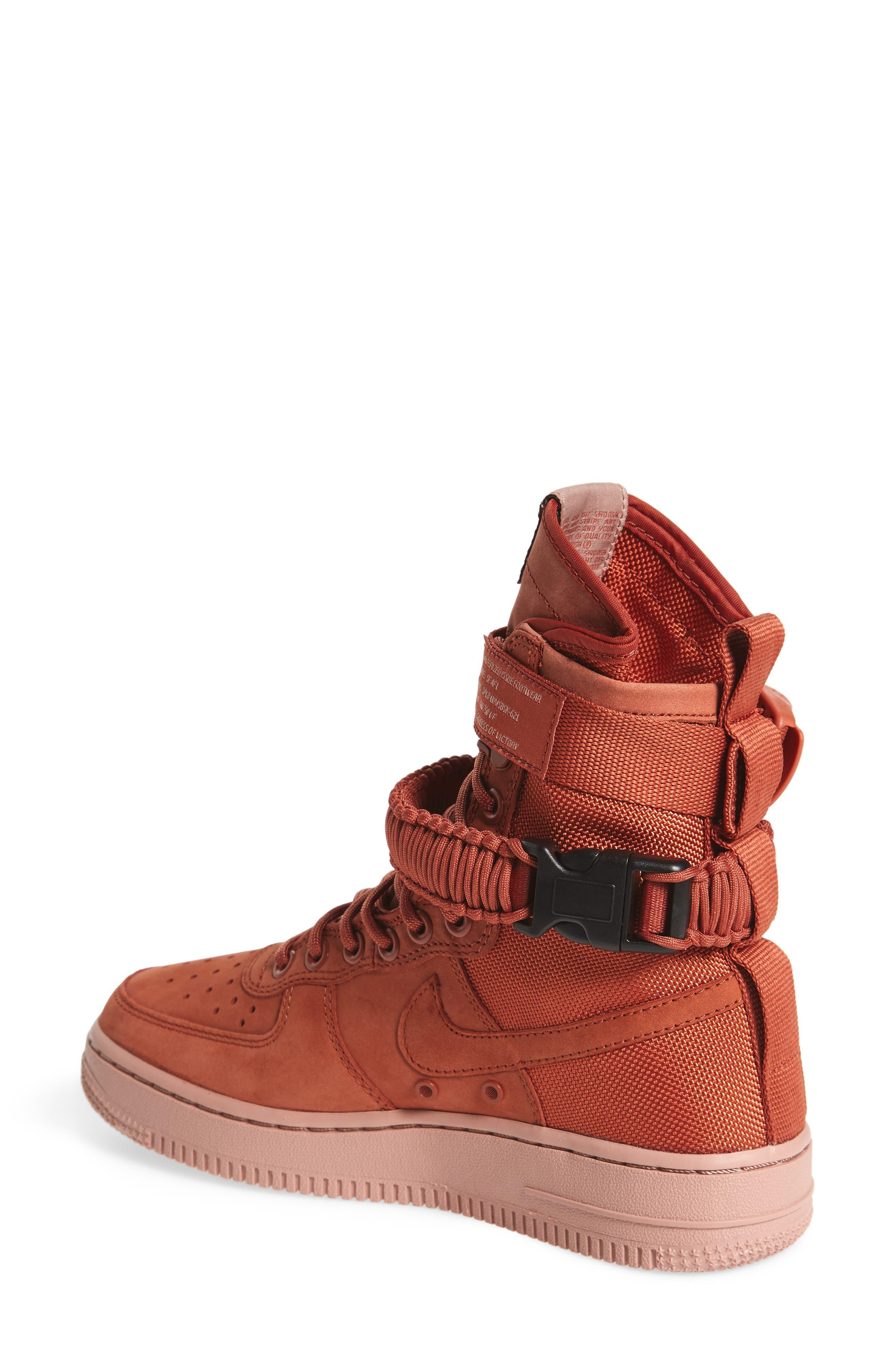 SF Air Force 1 High Top Sneaker,                             Alternate thumbnail 2, color,                             Dusty Peach/ Dusty Peach