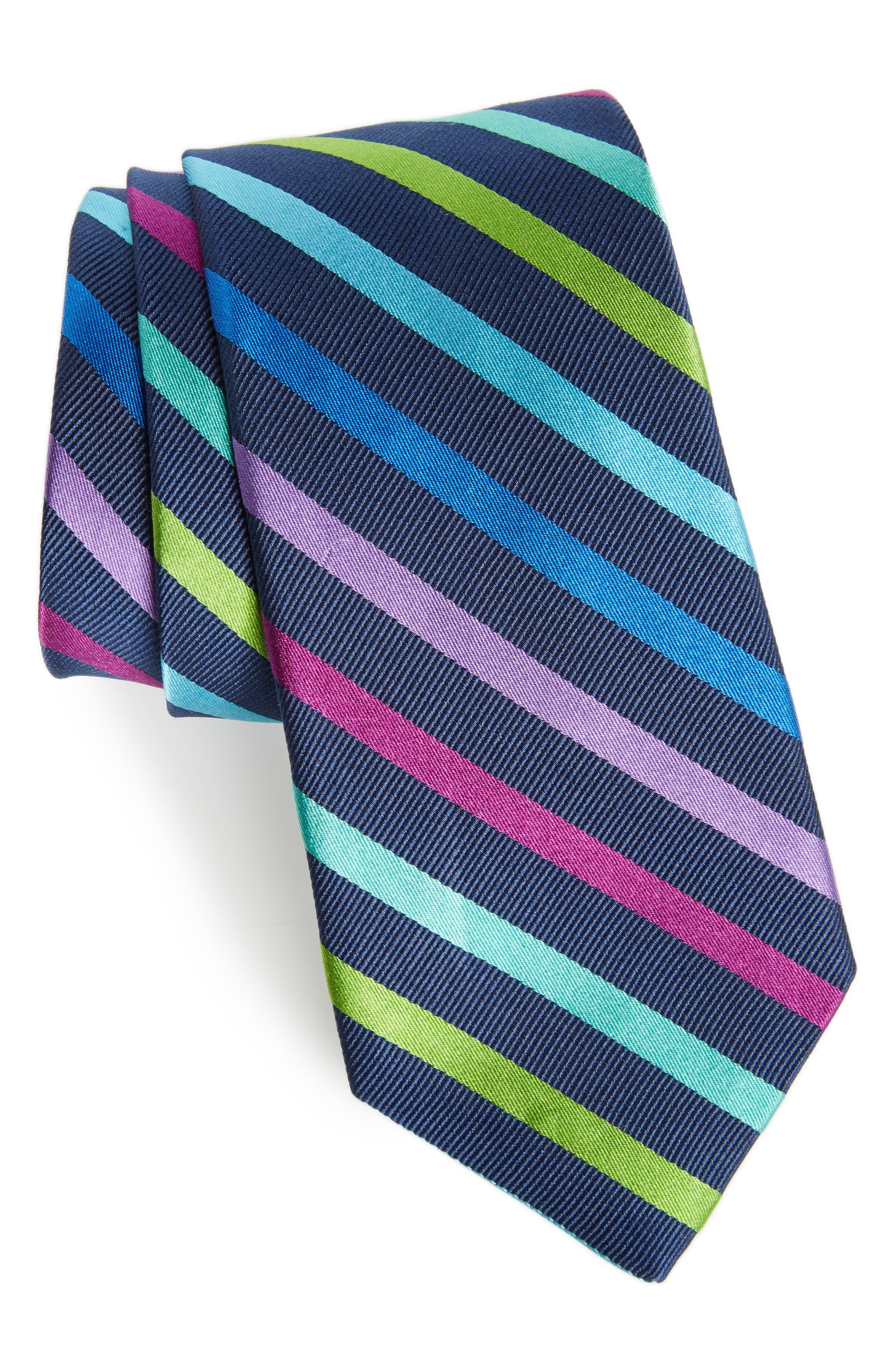 Main Image - Nordstrom Men's Shop Simi Stripe Silk Tie