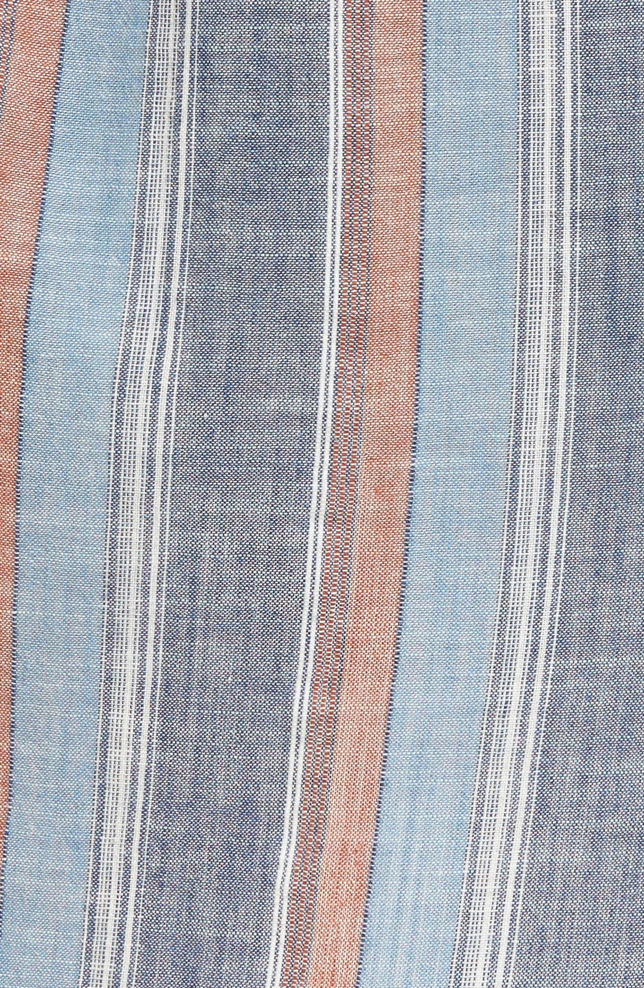 Anna Henley Dress,                             Alternate thumbnail 5, color,                             Blue Fig Multi
