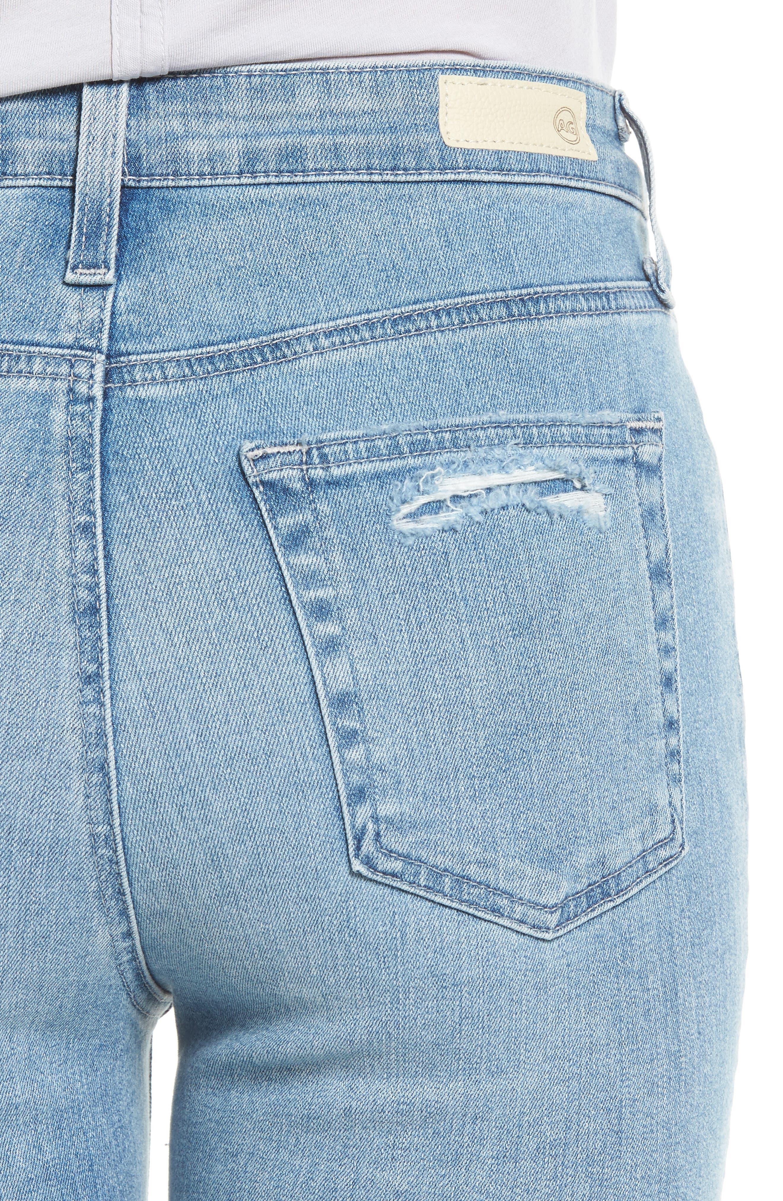 Mila High Waist Ankle Skinny Jeans,                             Alternate thumbnail 4, color,                             20 Years-Oceana Destructed