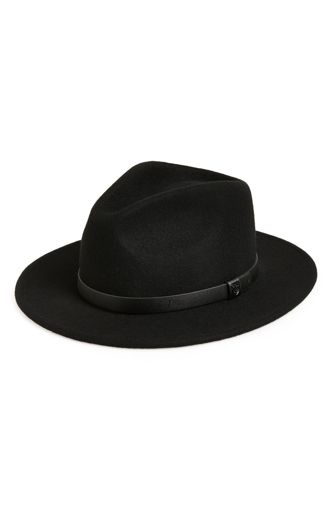 'Messer' Fedora,                         Main,                         color, Black/Black