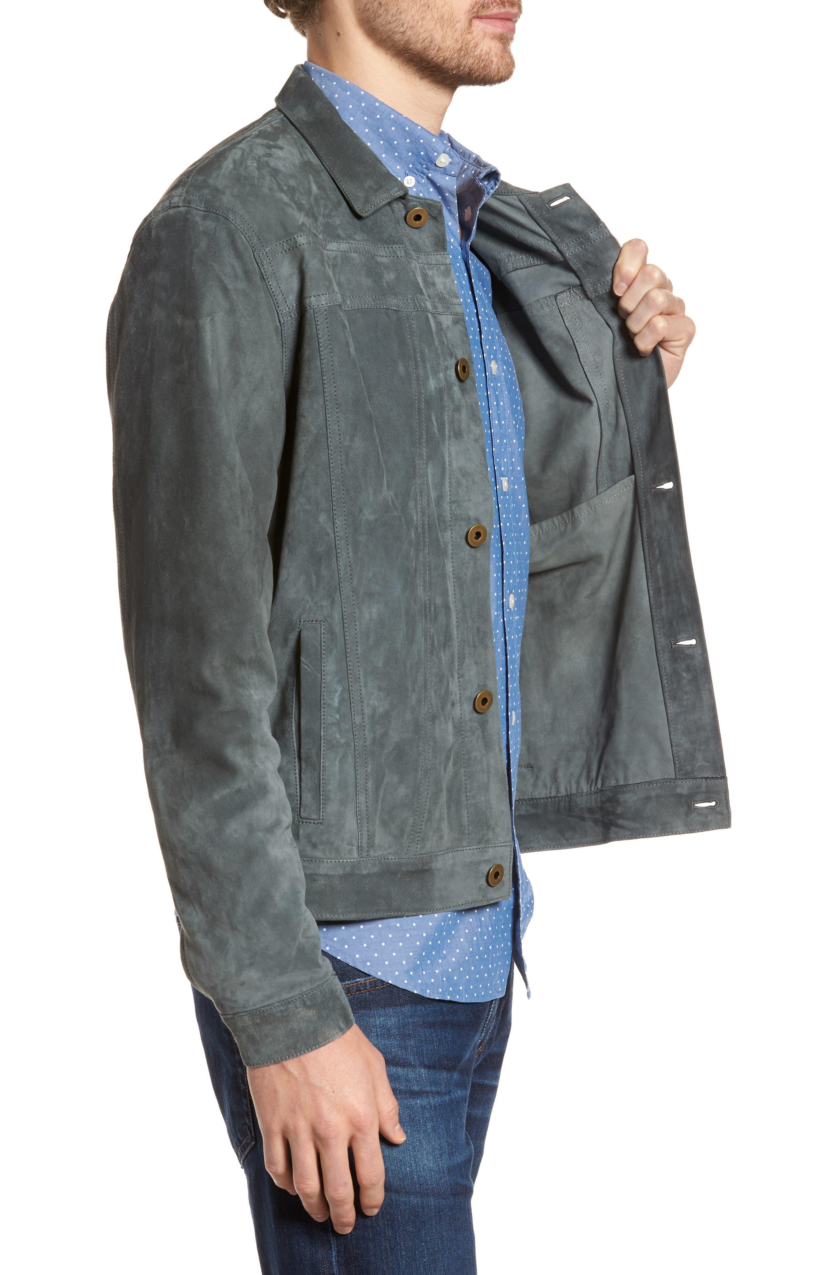 Cullen Suede Jacket,                             Alternate thumbnail 3, color,                             Aspha