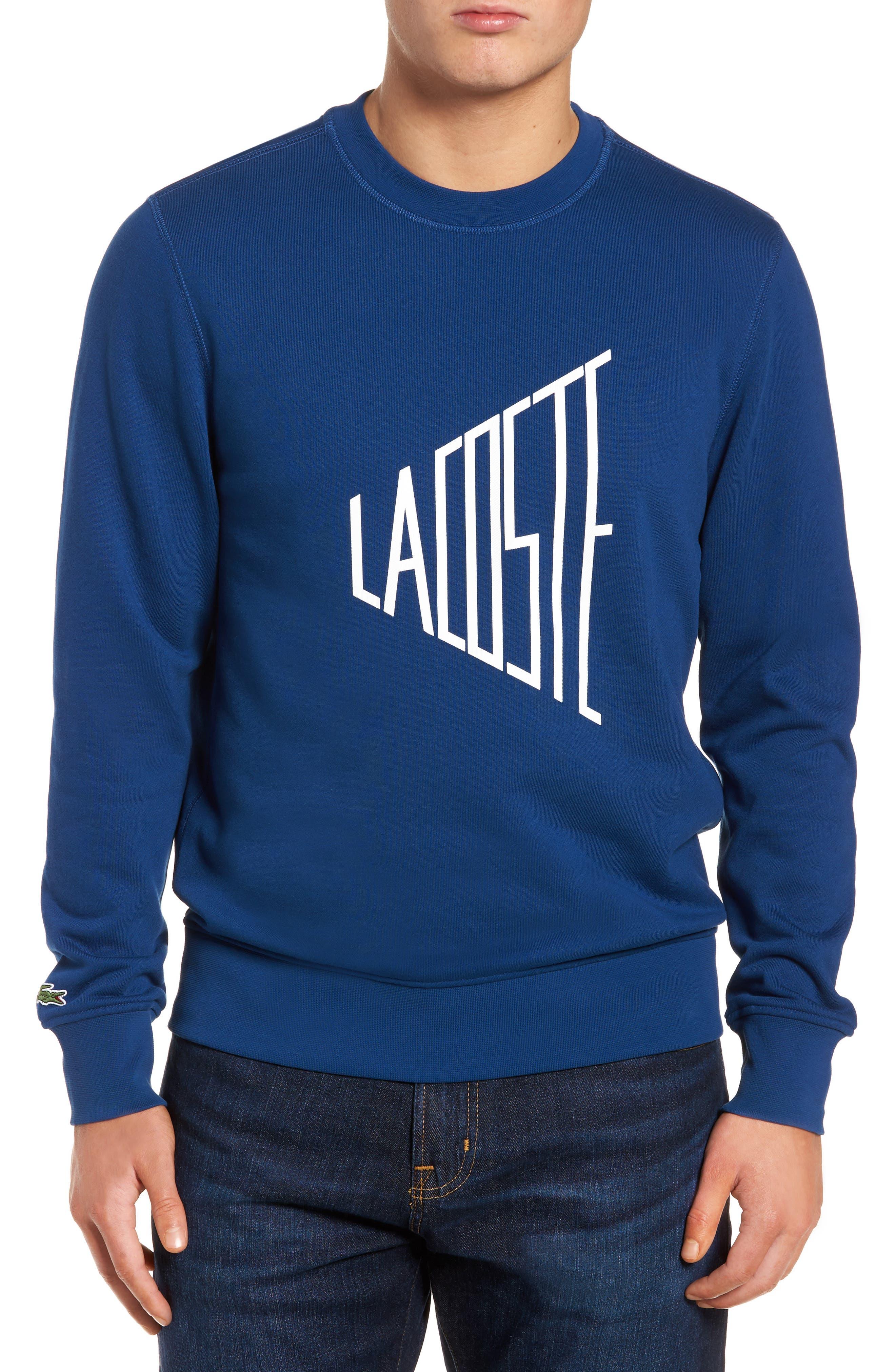 Main Image - Lacoste Lettering Fleece Sweatshirt