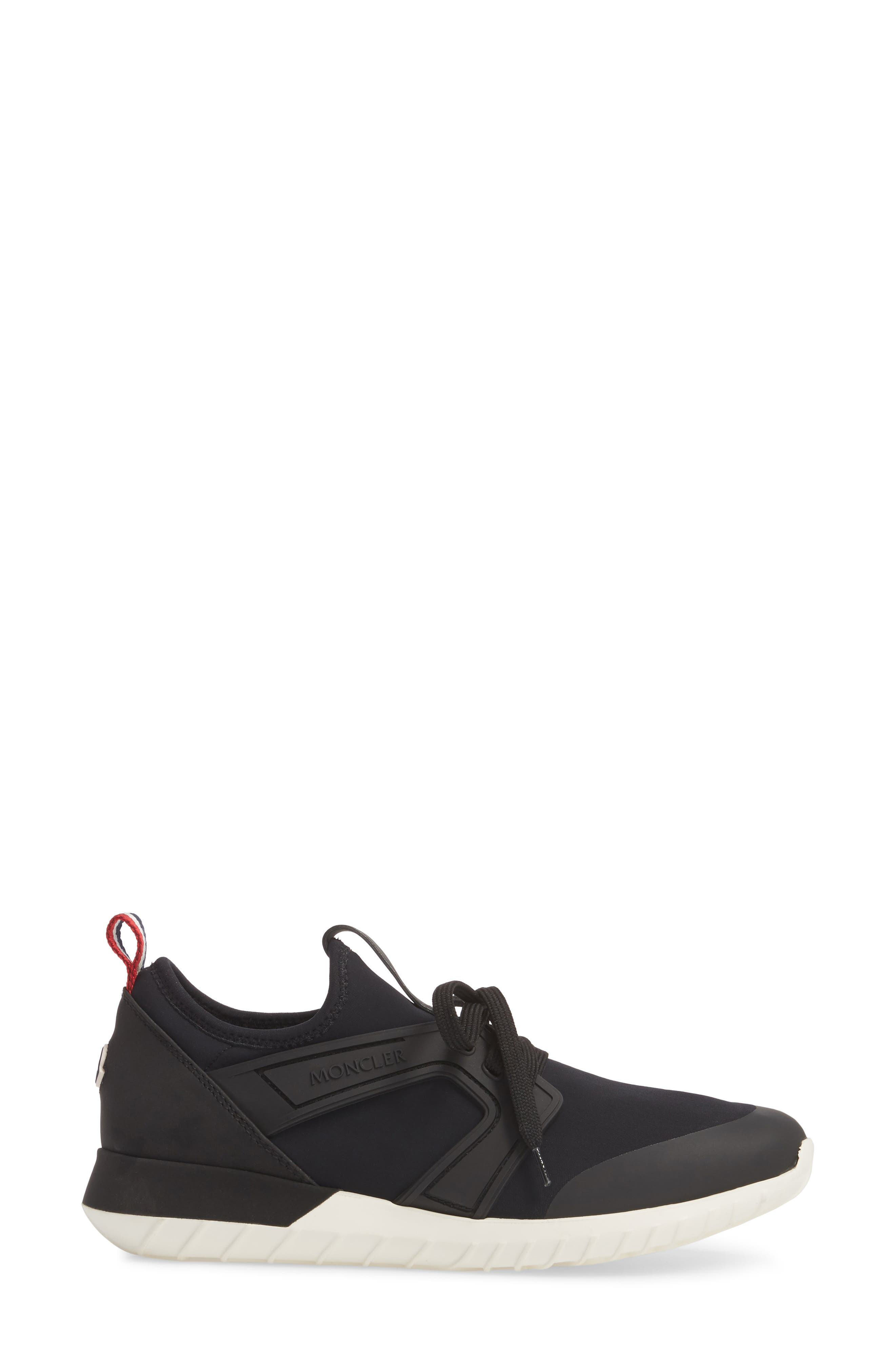 Meline Lace-Up Sneaker,                             Alternate thumbnail 3, color,                             Black