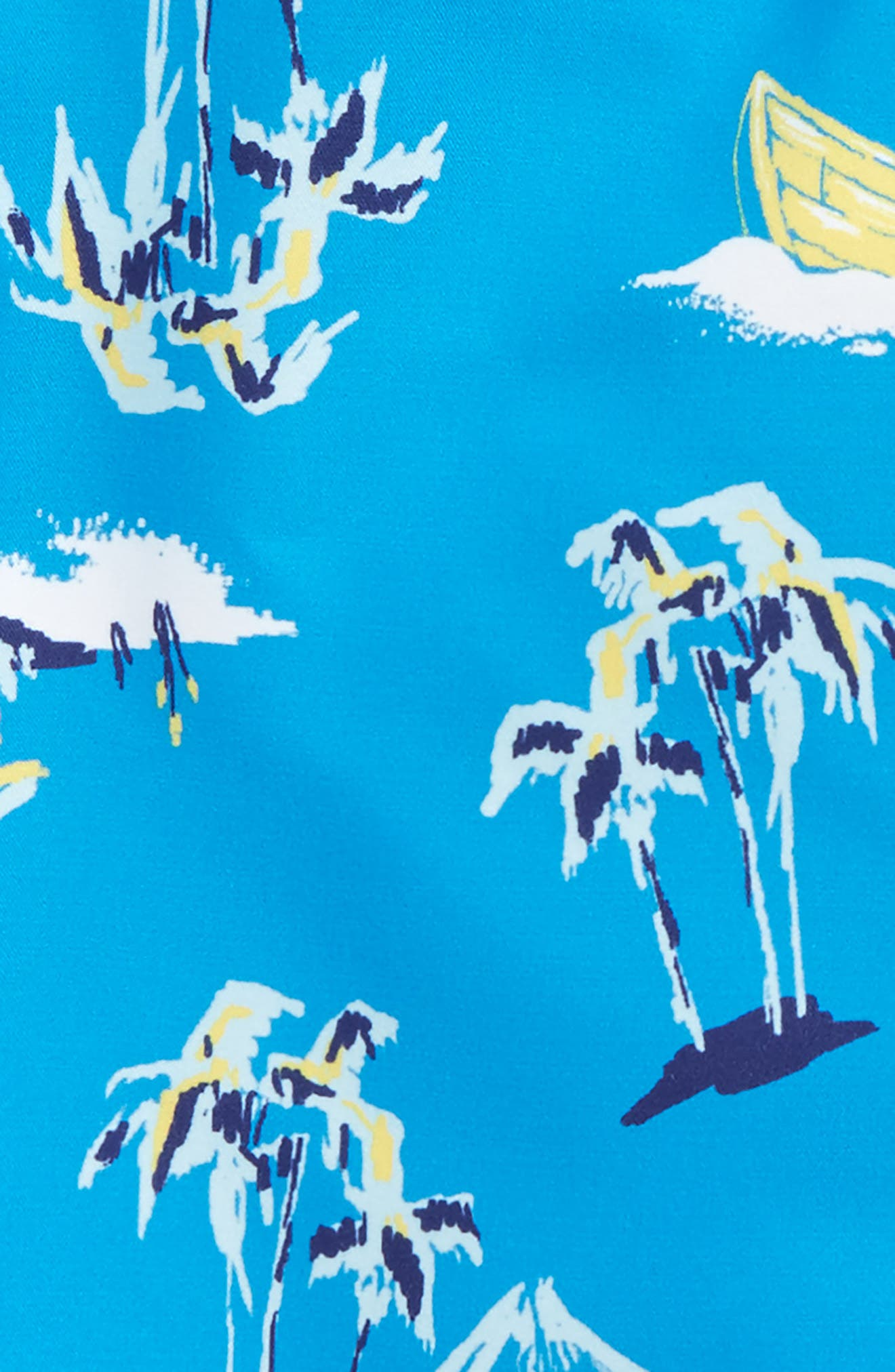 'Sand 'N My Trunks' Swim Trunks,                             Alternate thumbnail 2, color,                             Blue Azul Hawaiian