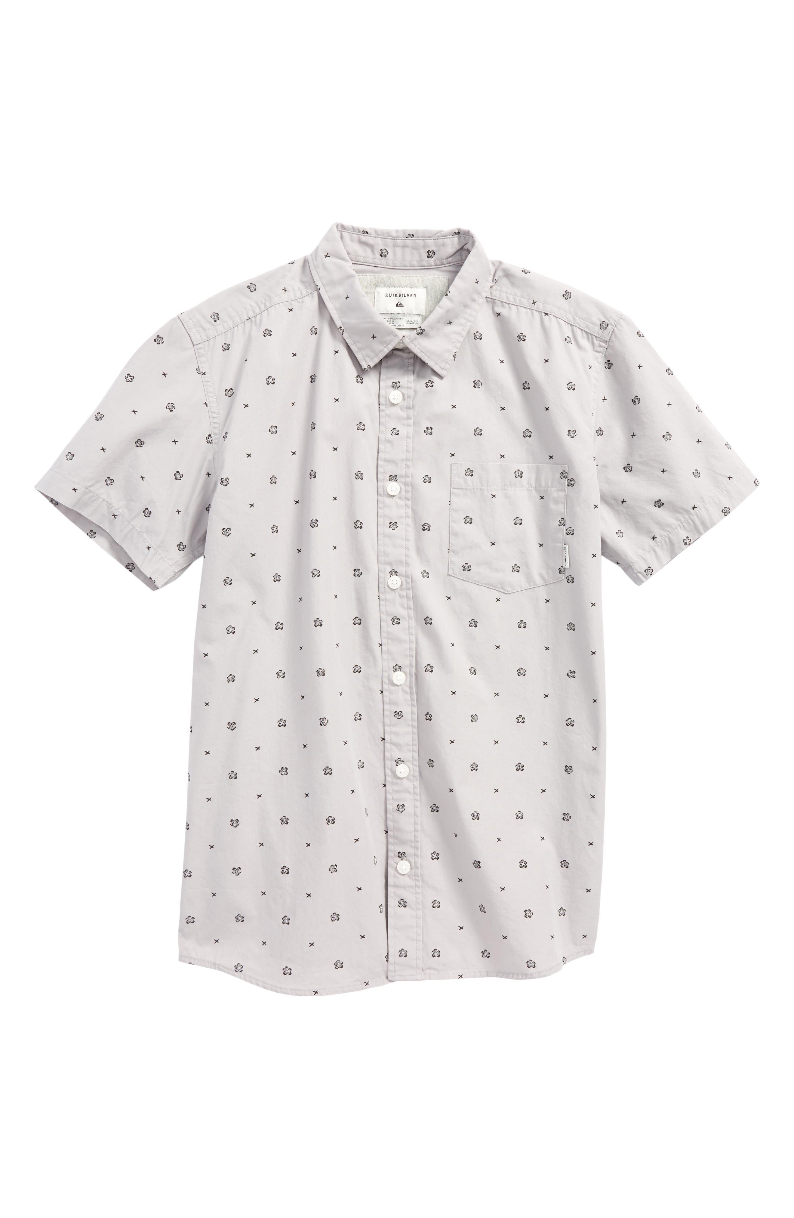 Kamanoa Woven Shirt,                             Main thumbnail 1, color,                             Silver Sconce