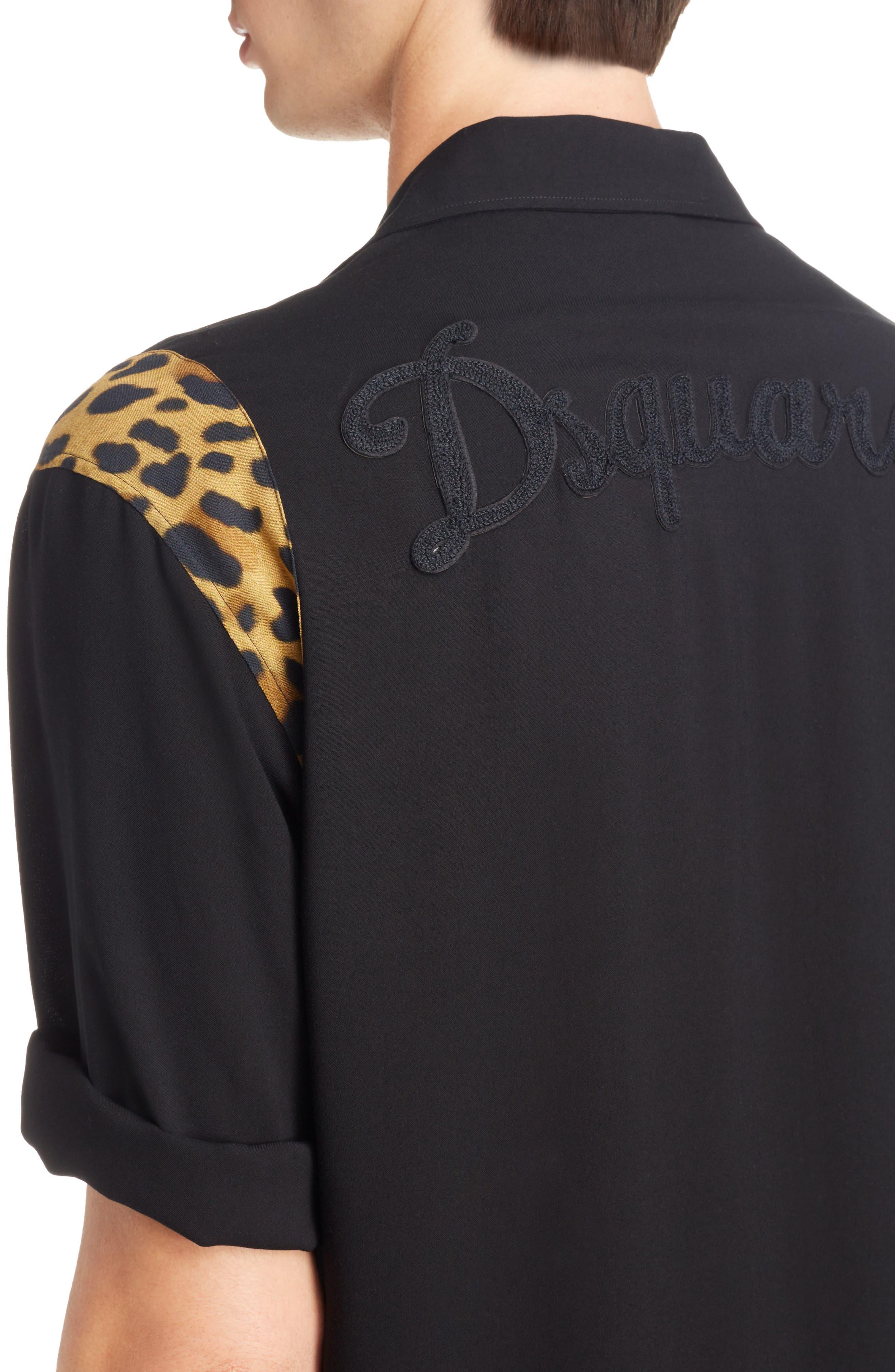 Bowling Shirt,                             Alternate thumbnail 2, color,                             Black