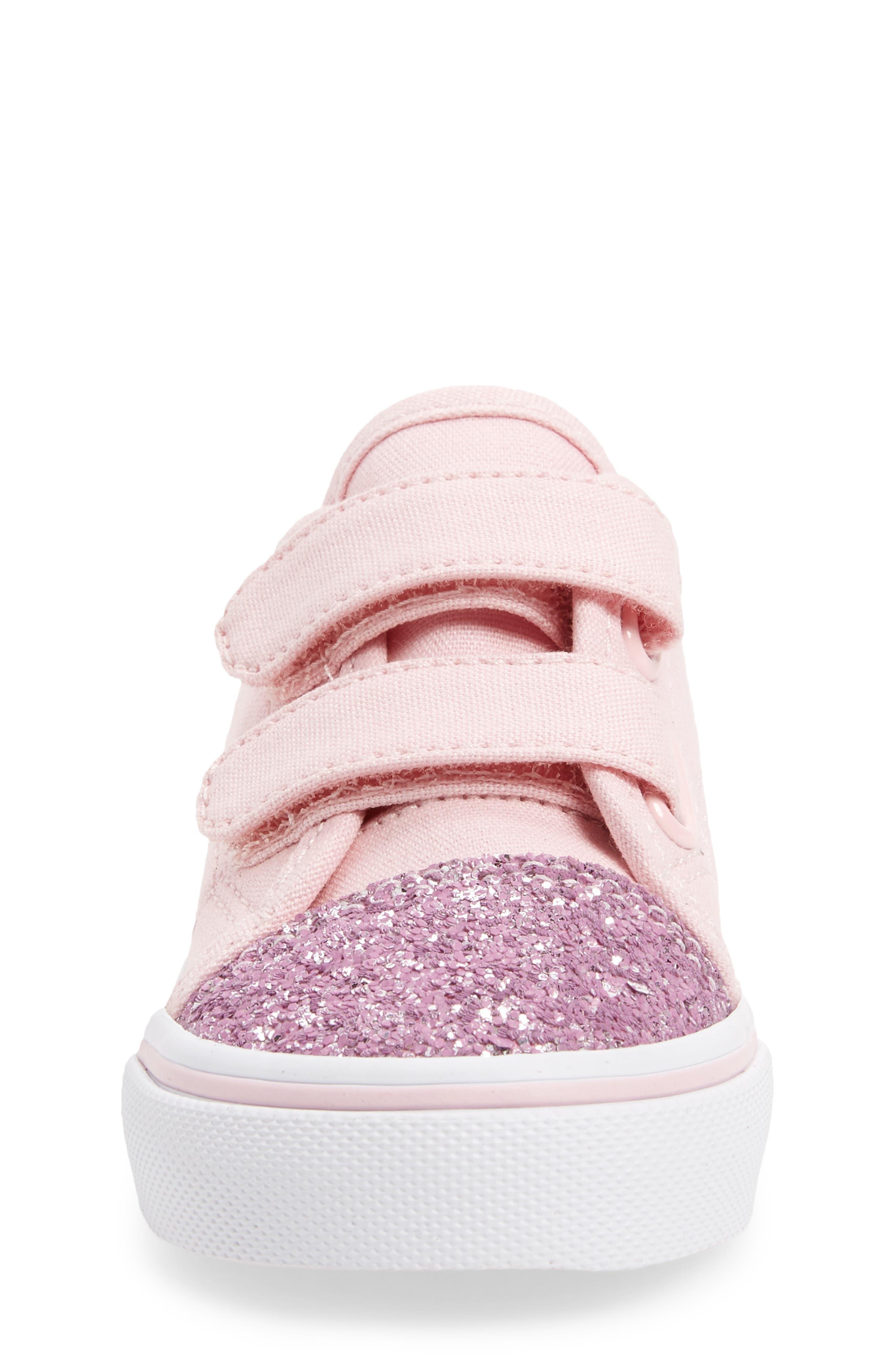 Glitter Toe Style 23 V Sneaker,                             Alternate thumbnail 4, color,                             Glitter Chalk Pink/ True White