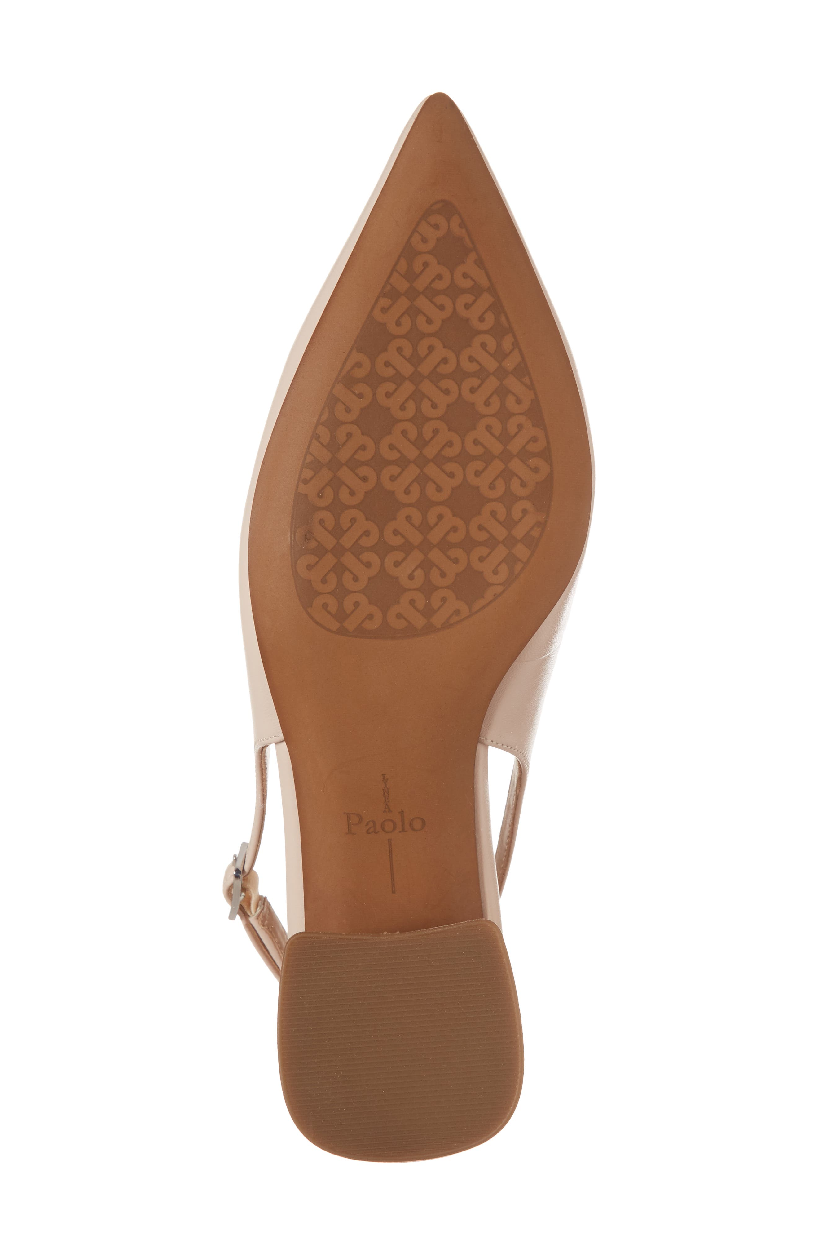 Carly Slingback Pump,                             Alternate thumbnail 6, color,                             Pale Pink Leather