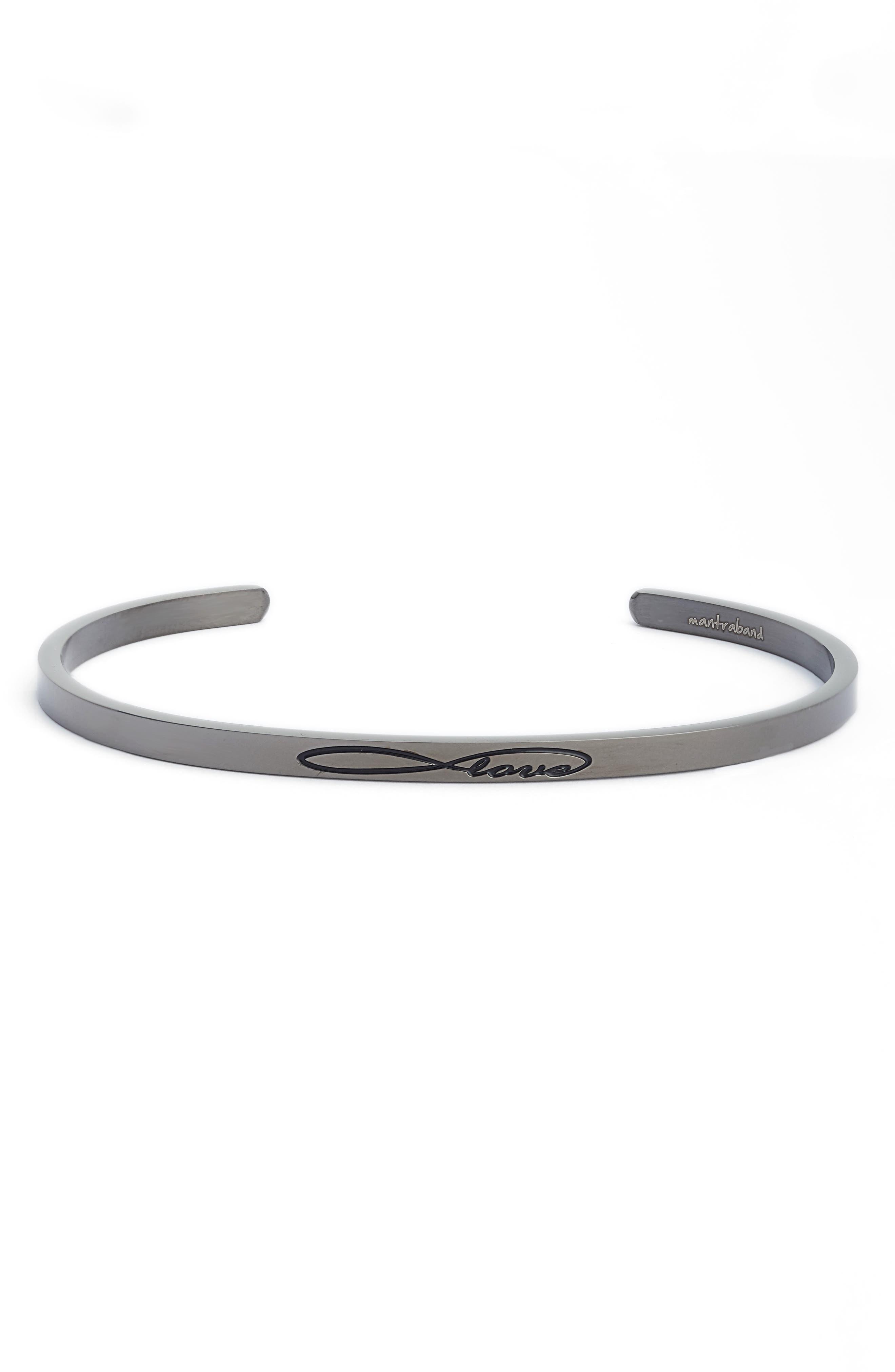 Infinite Love Cuff Bracelet,                             Main thumbnail 1, color,                             Moon Gray