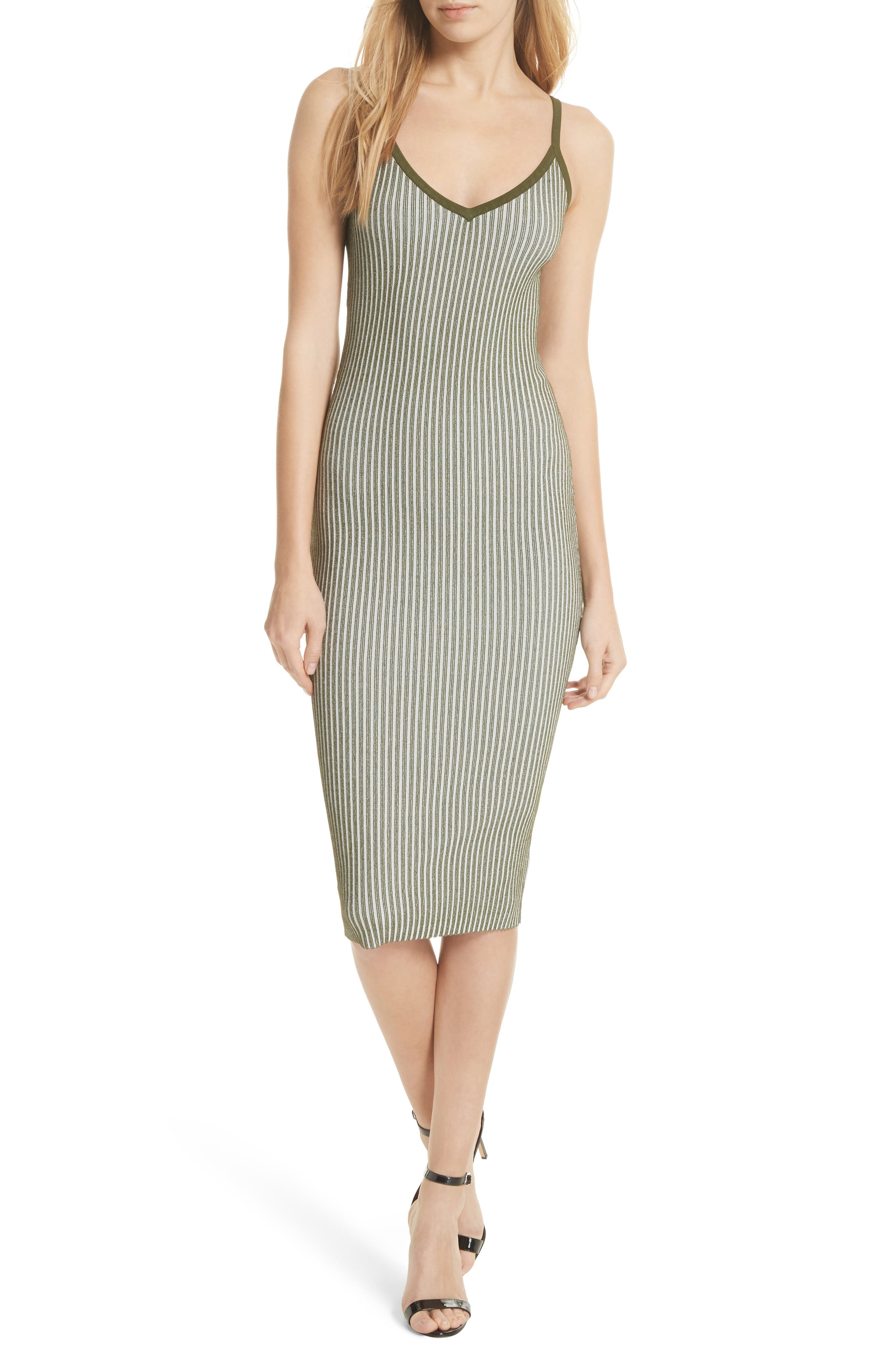 Alternate Image 1 Selected - Milly Plaited Ribbed Slipdress