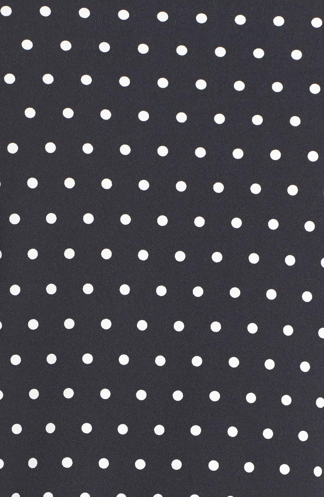 polka dot scallop jacket,                             Alternate thumbnail 6, color,                             Black/ Cream