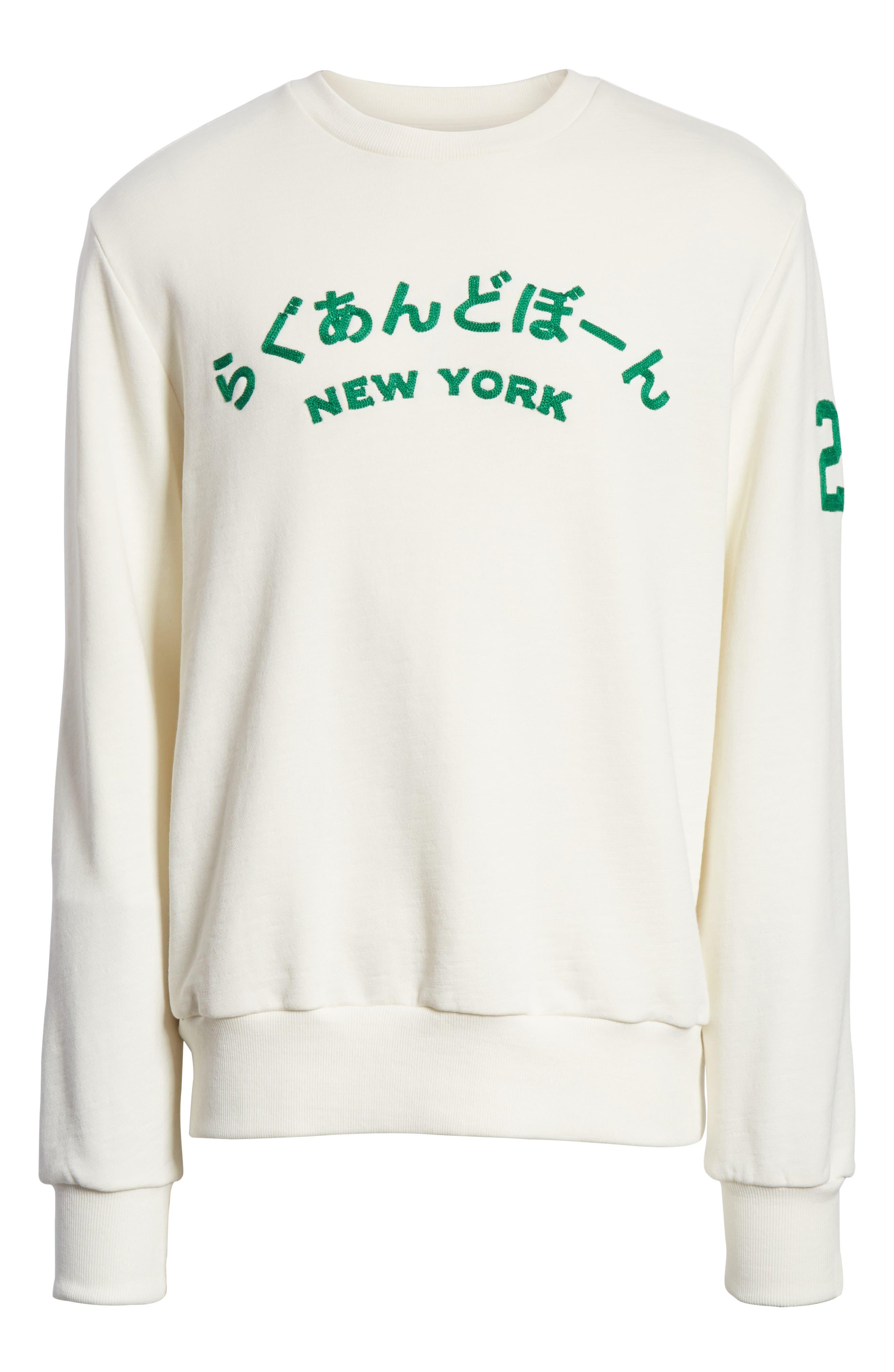 Alternate Image 6  - rag & bone Japan Embroidered Crewneck Sweatshirt