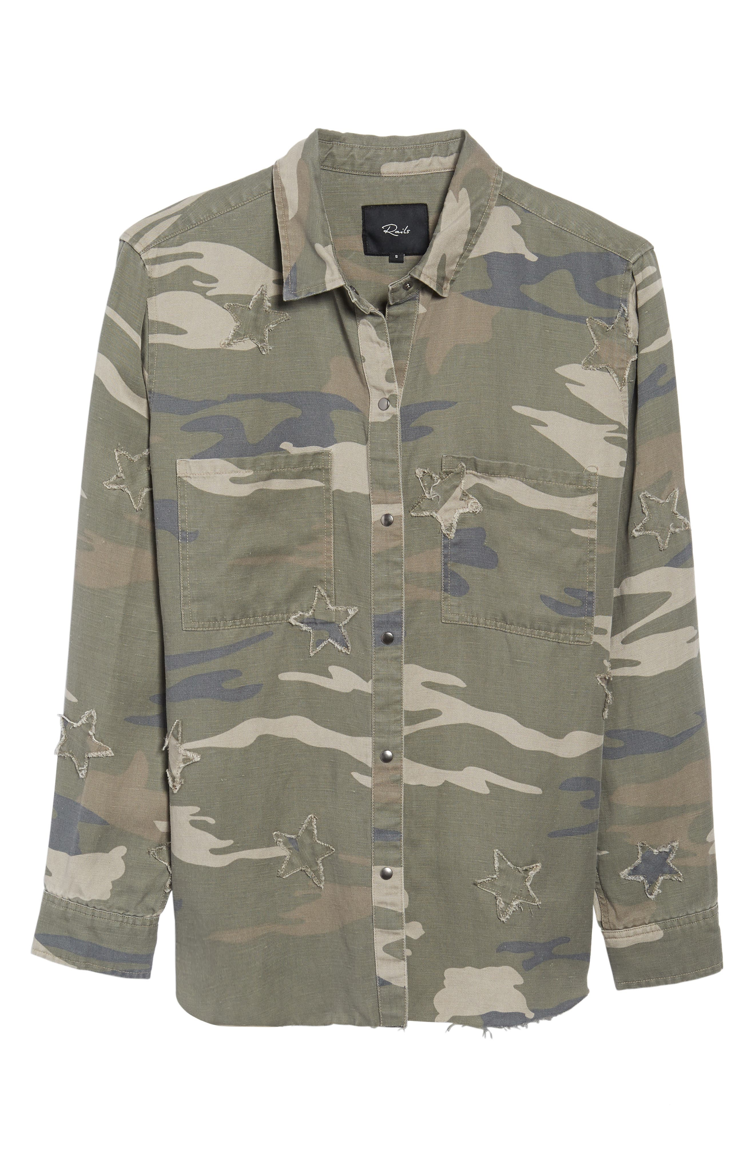 Marcel Shirt,                             Alternate thumbnail 6, color,                             Sage Camo With Stars