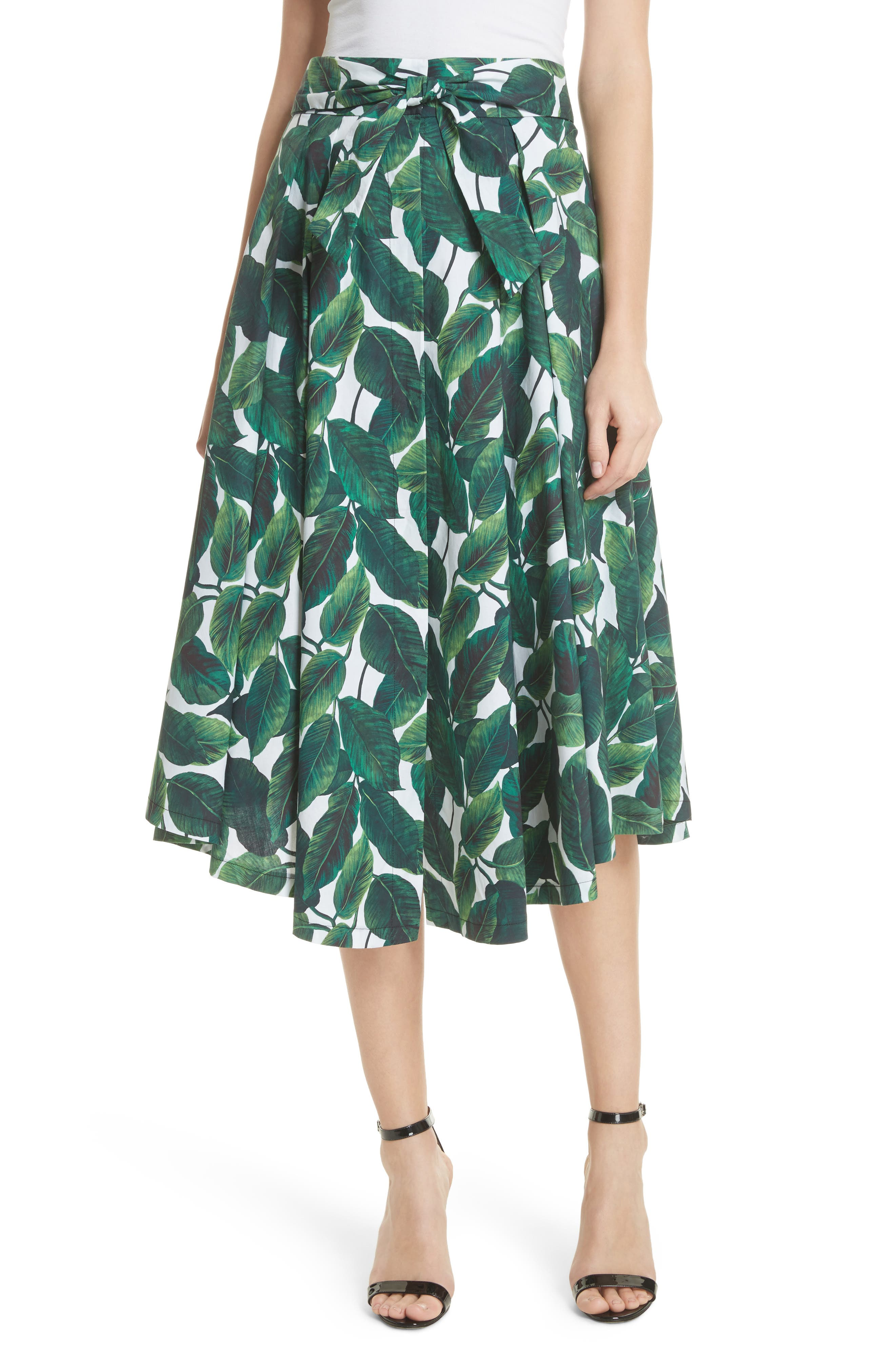 Milly Jackie Print Skirt