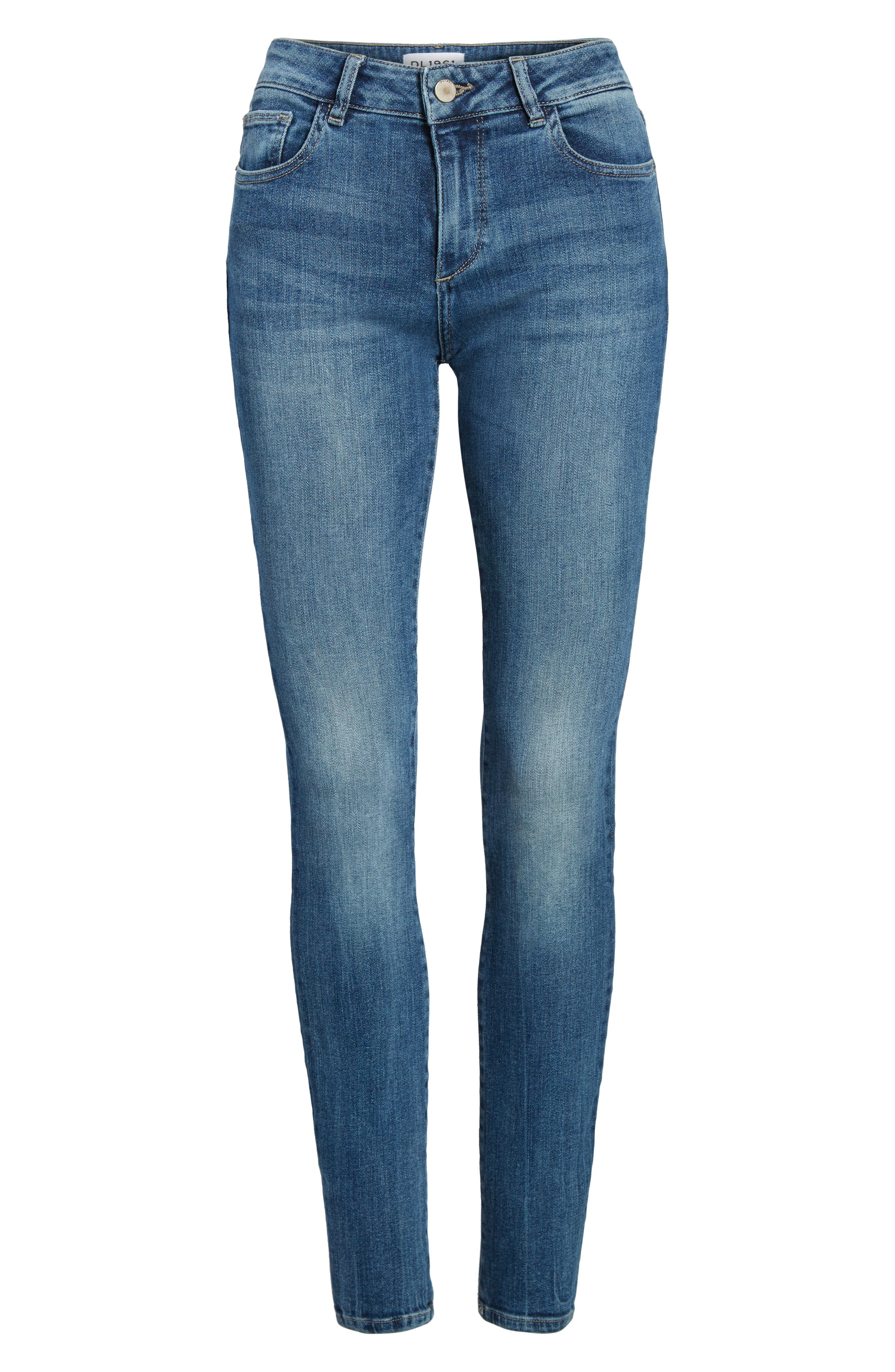 Florence Instasculpt Skinny Jeans,                             Alternate thumbnail 7, color,                             Wells