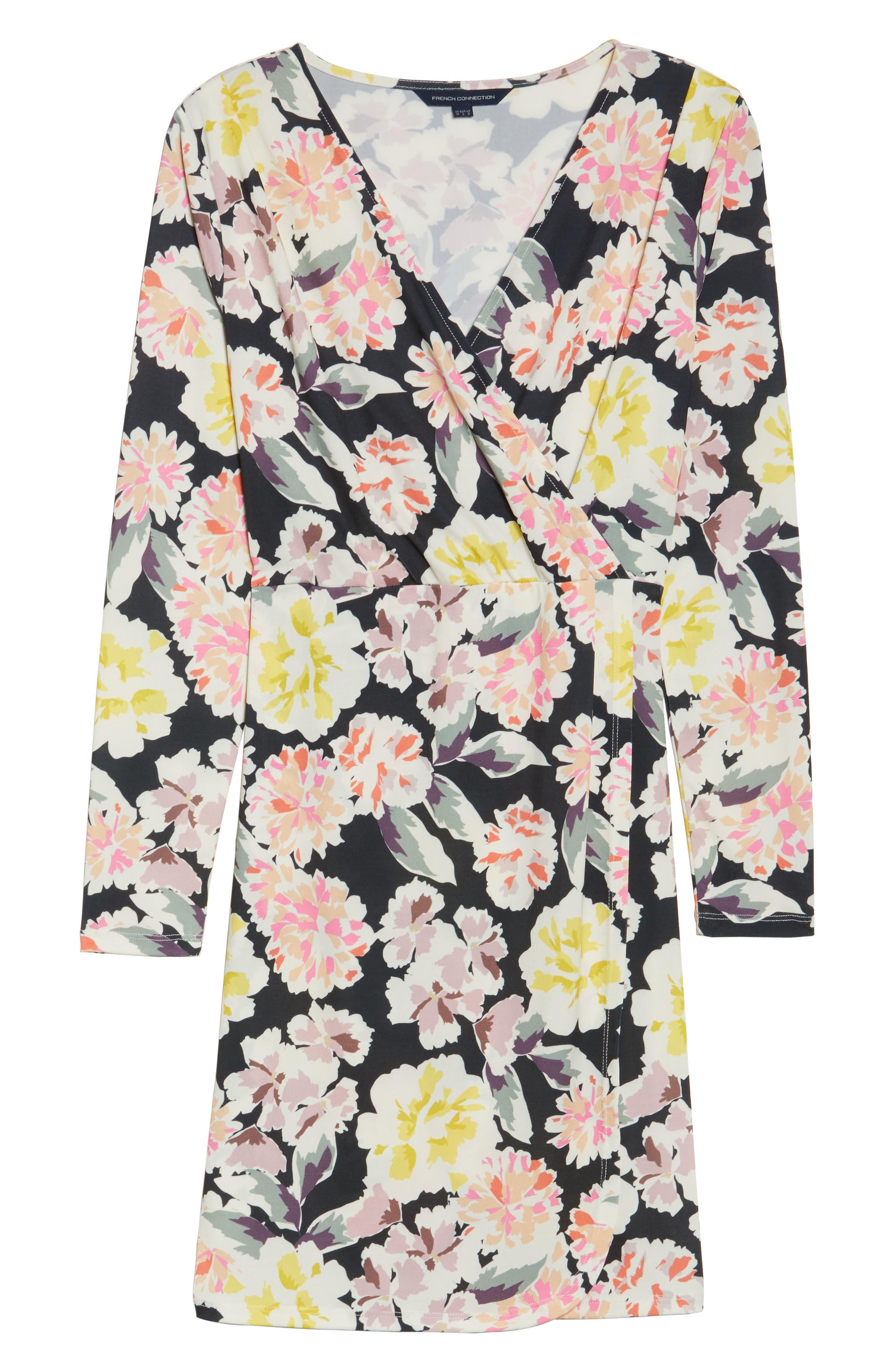 Enoshima Sheath Dress,                             Alternate thumbnail 6, color,                             Black Multi
