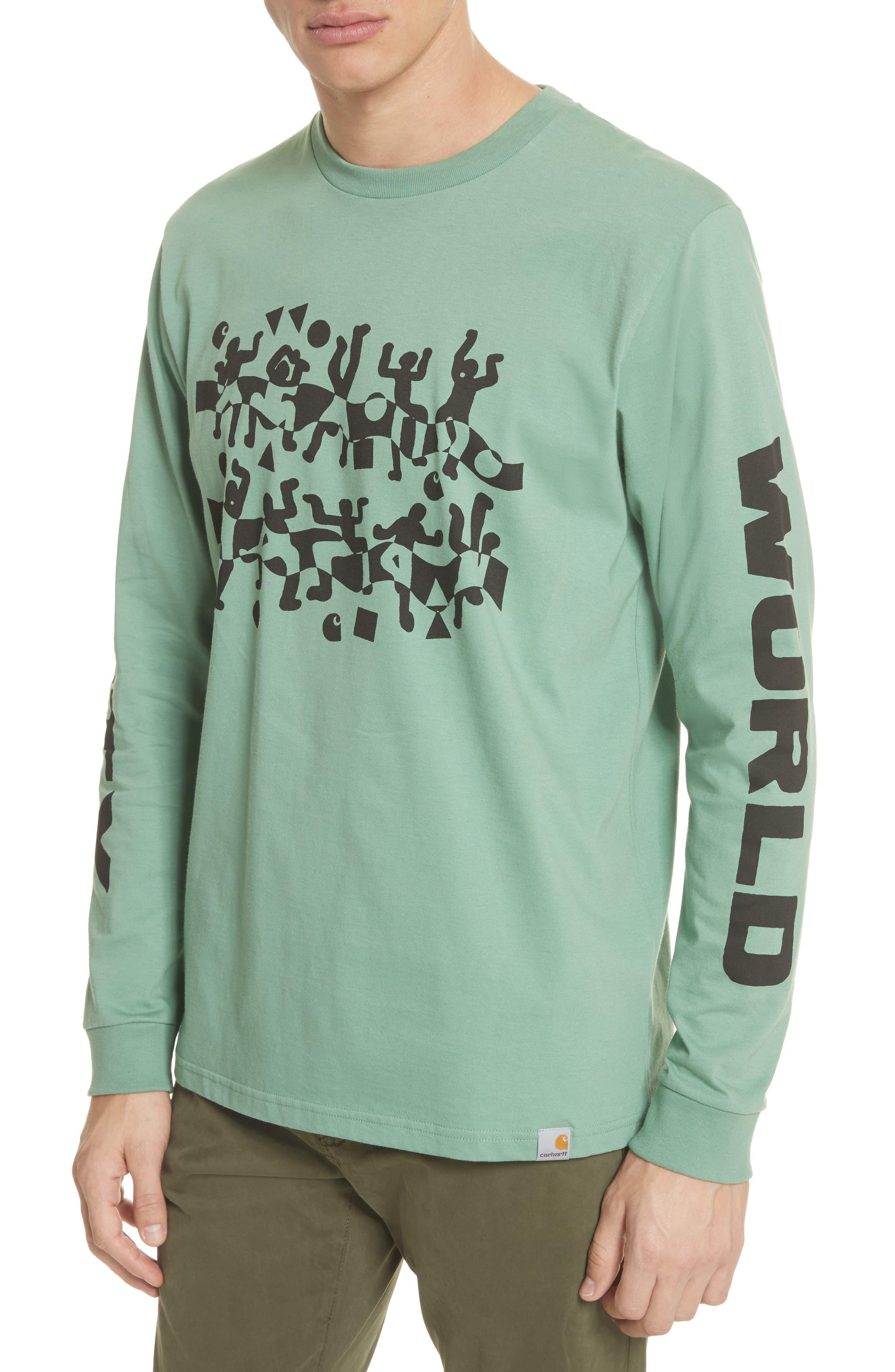 World Party T-Shirt,                             Alternate thumbnail 4, color,                             Catnip/Black
