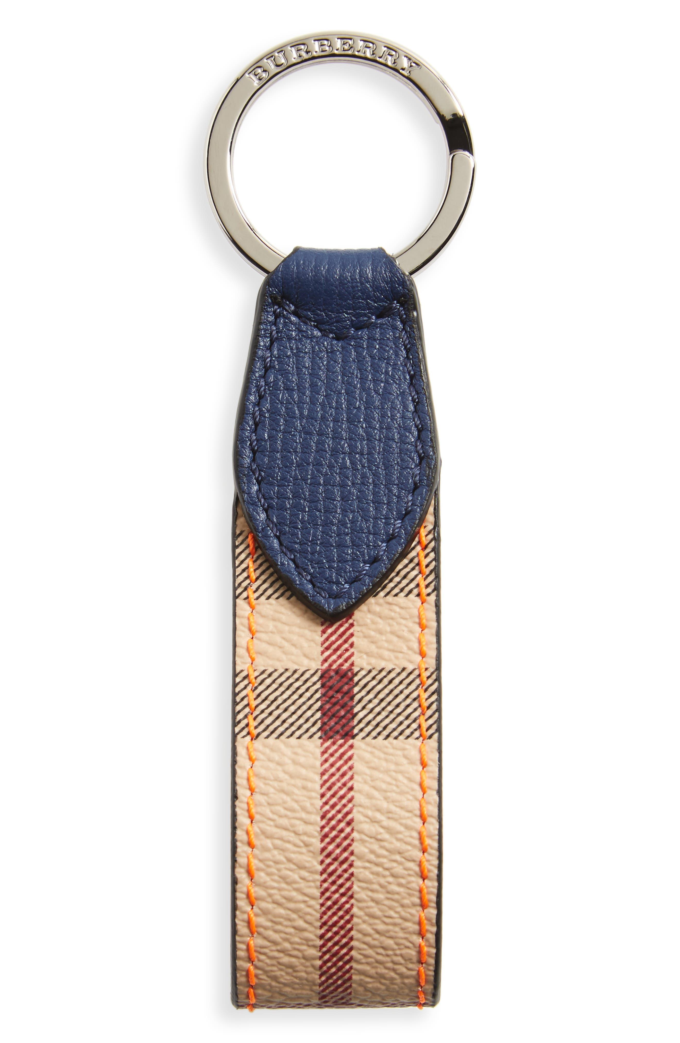 Burberry Haymarket Check Key Chain