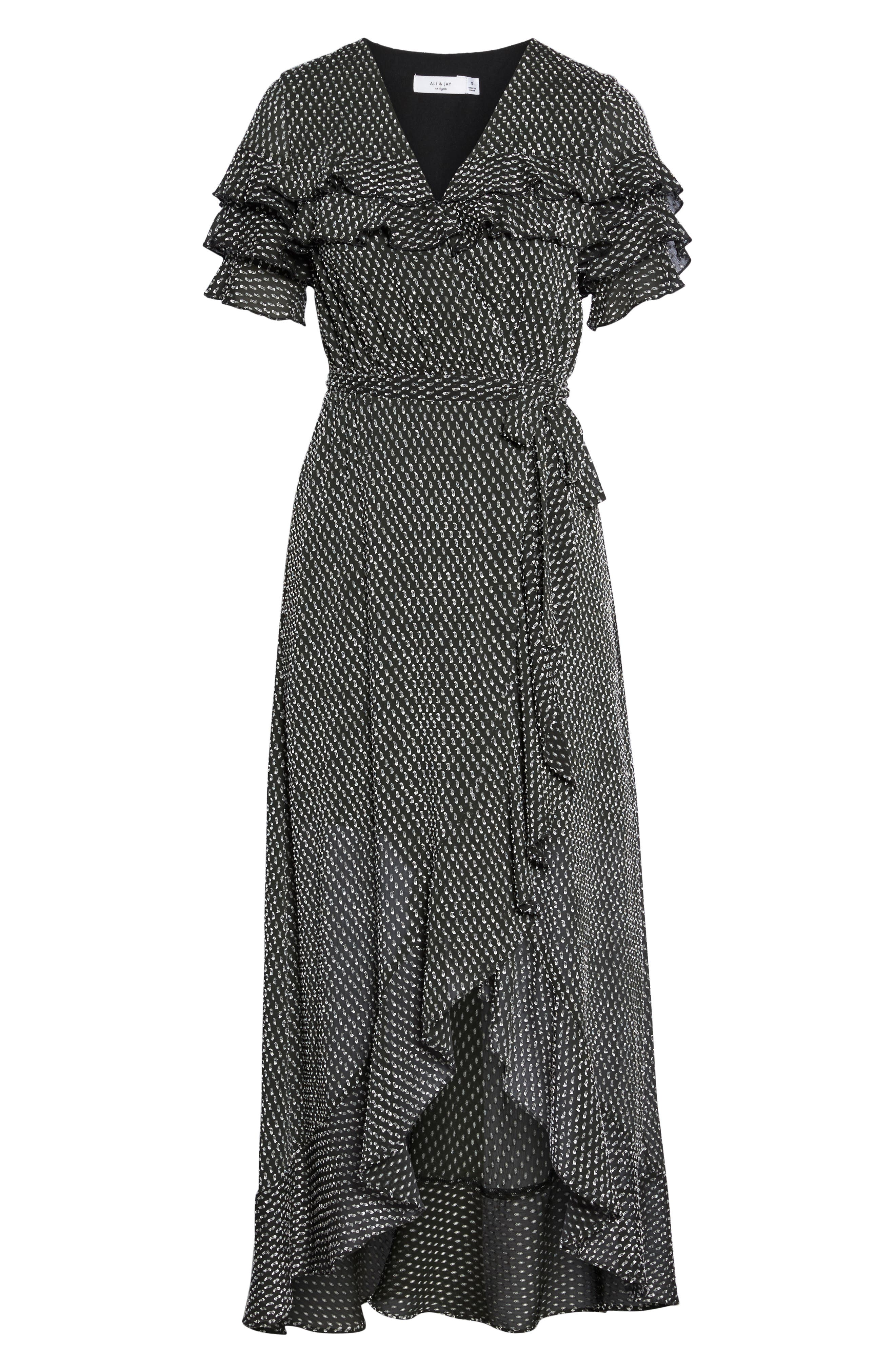Alternate Image 7  - Ali & Jay YOLO Ruffle Wrap Dress