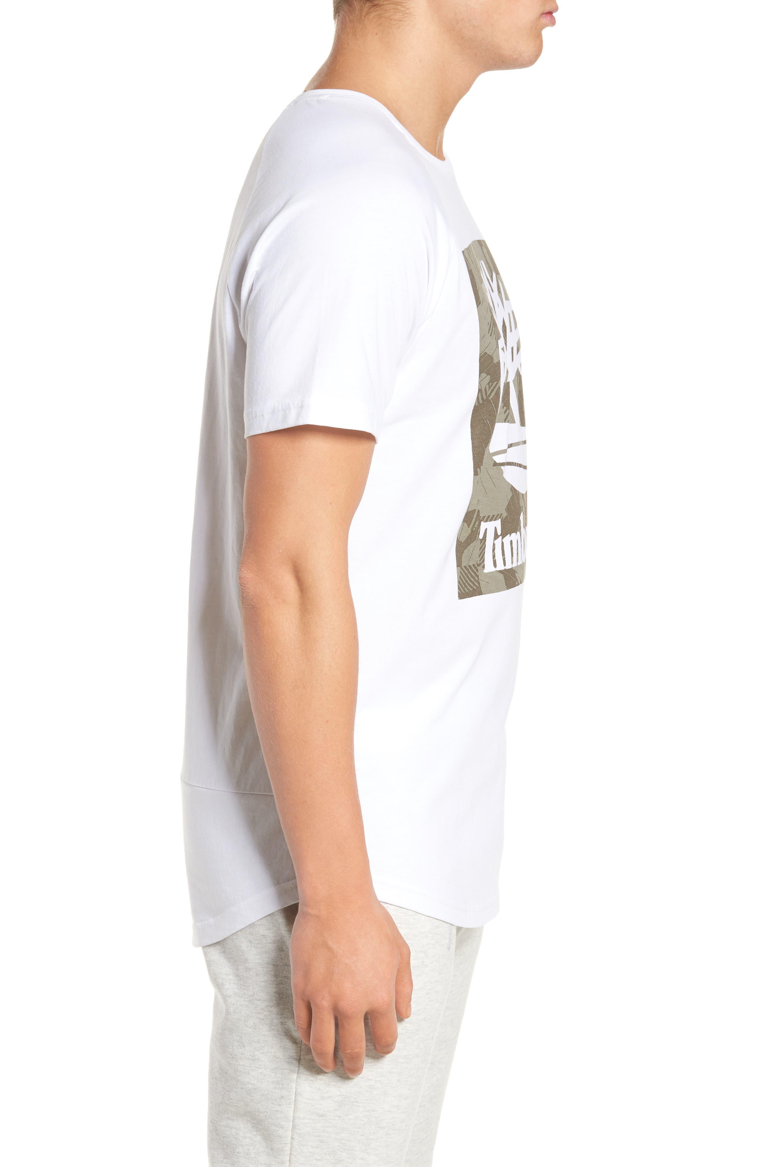 Camo Logo T-Shirt,                             Alternate thumbnail 3, color,                             White