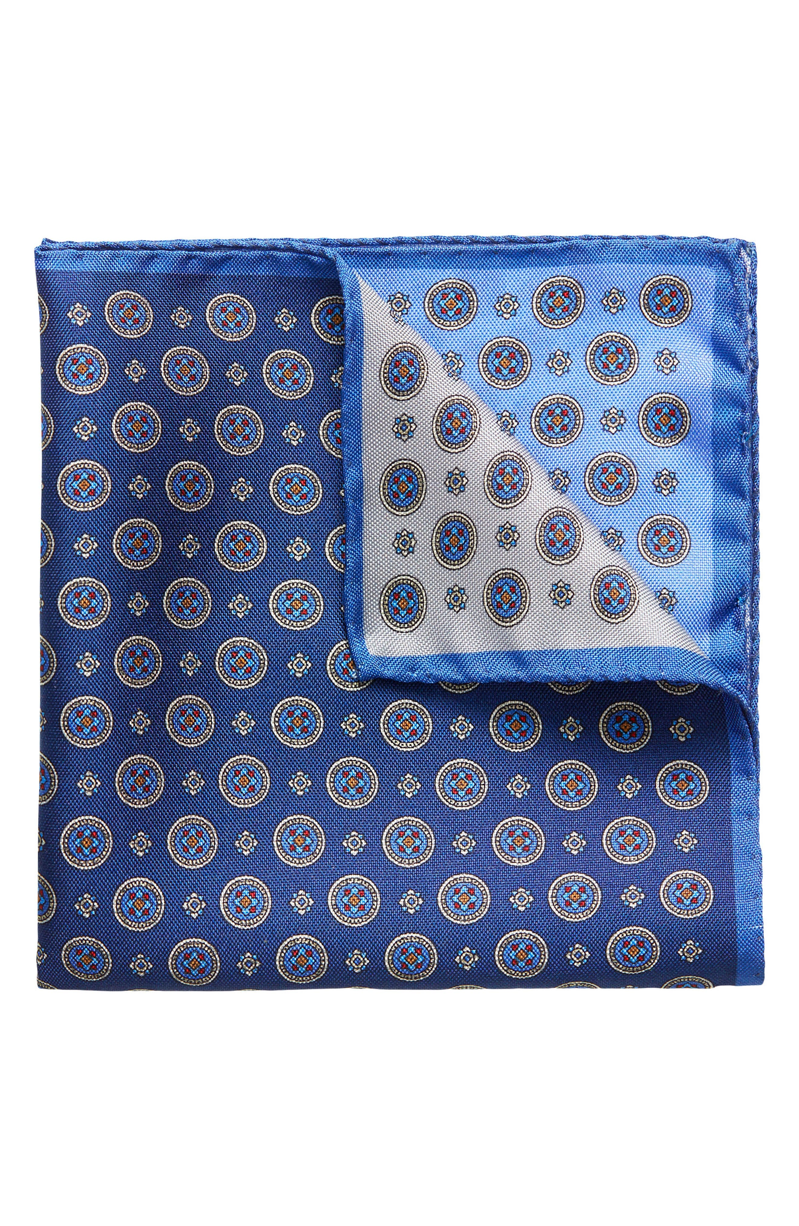 Four-in-One Silk Pocket Square,                             Main thumbnail 1, color,                             Blue