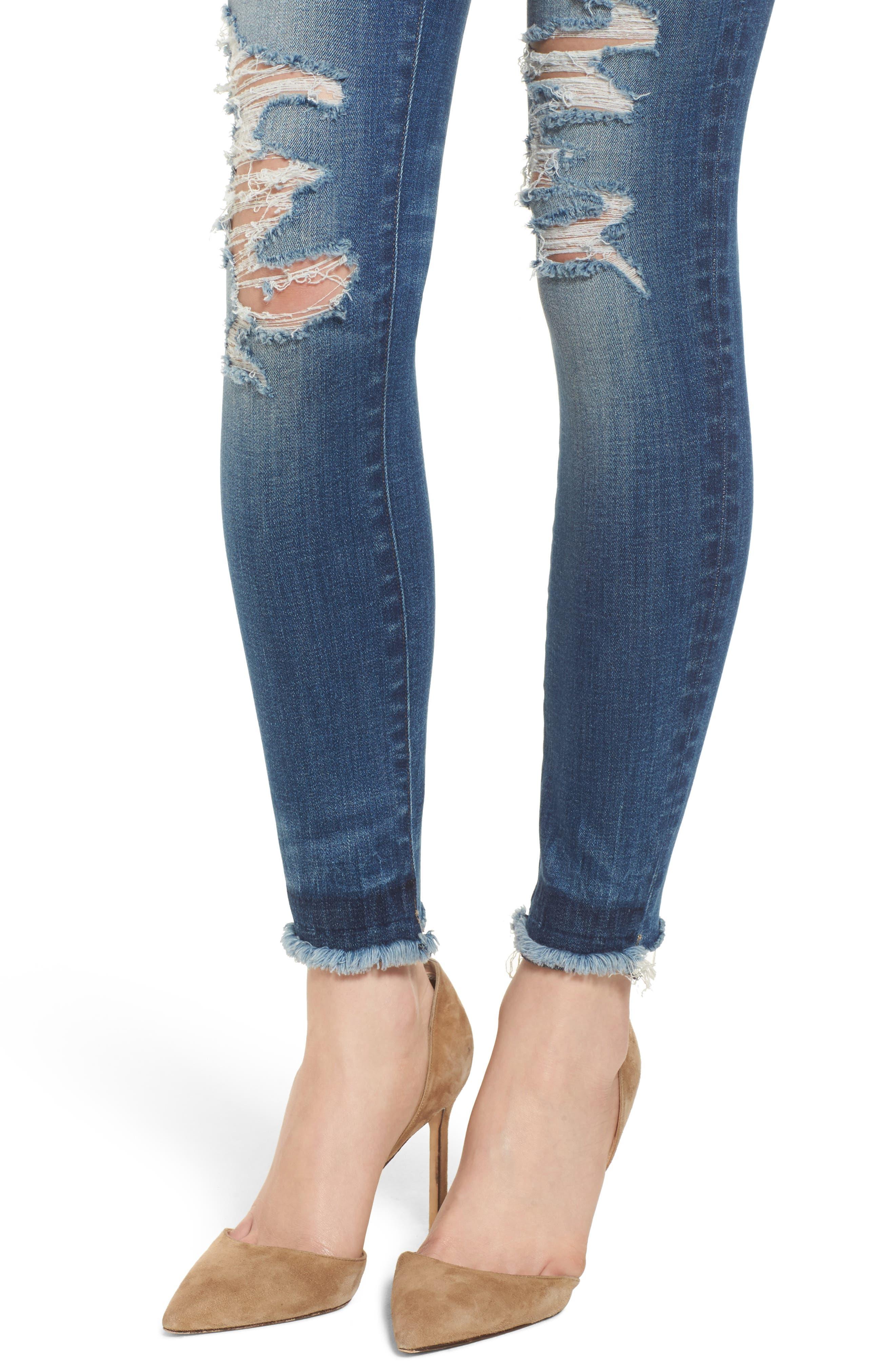 Emma Power Legging Jeans,                             Alternate thumbnail 4, color,                             Westwood