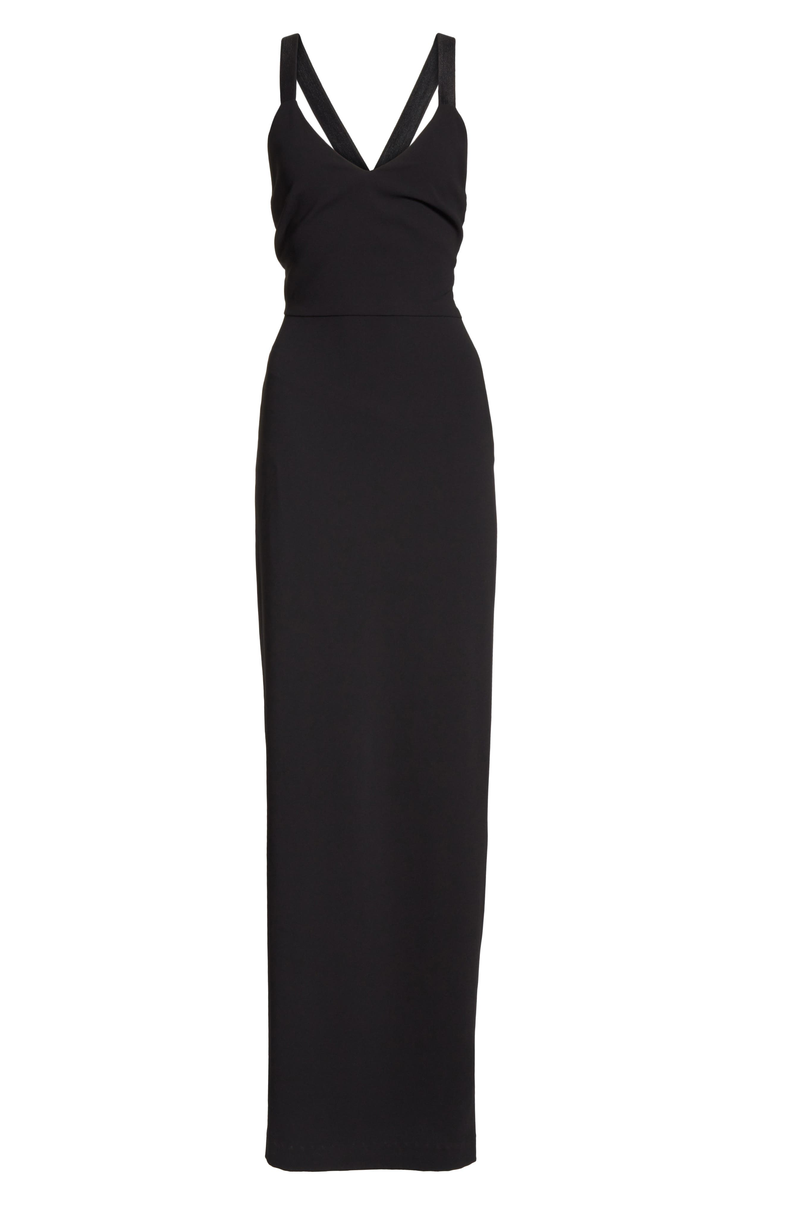 Brianna Strappy Back Maxi Dress,                             Alternate thumbnail 6, color,                             Black