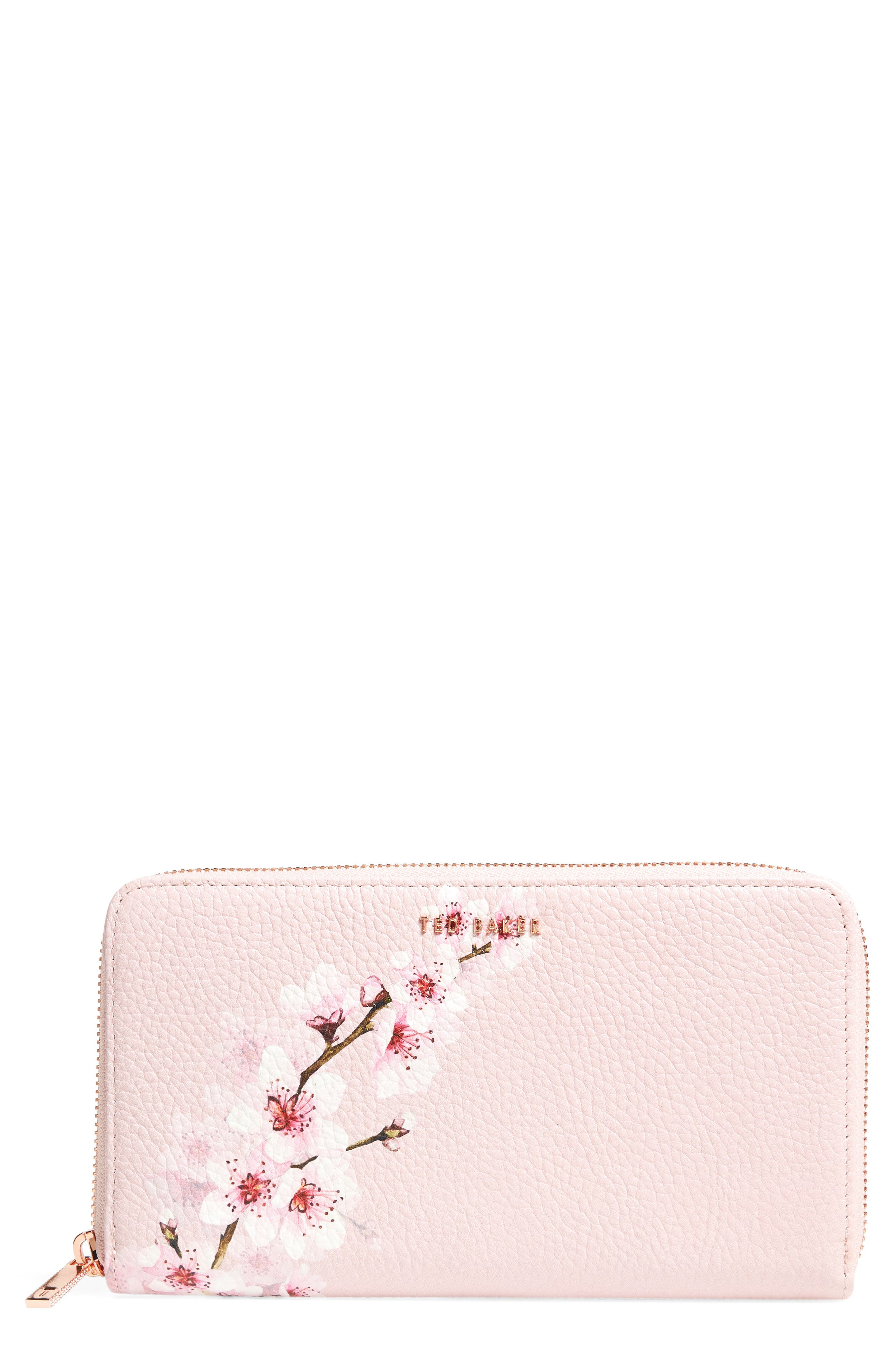 Ted Baker London Kohei Soft Blossom Leather Matinée Wallet