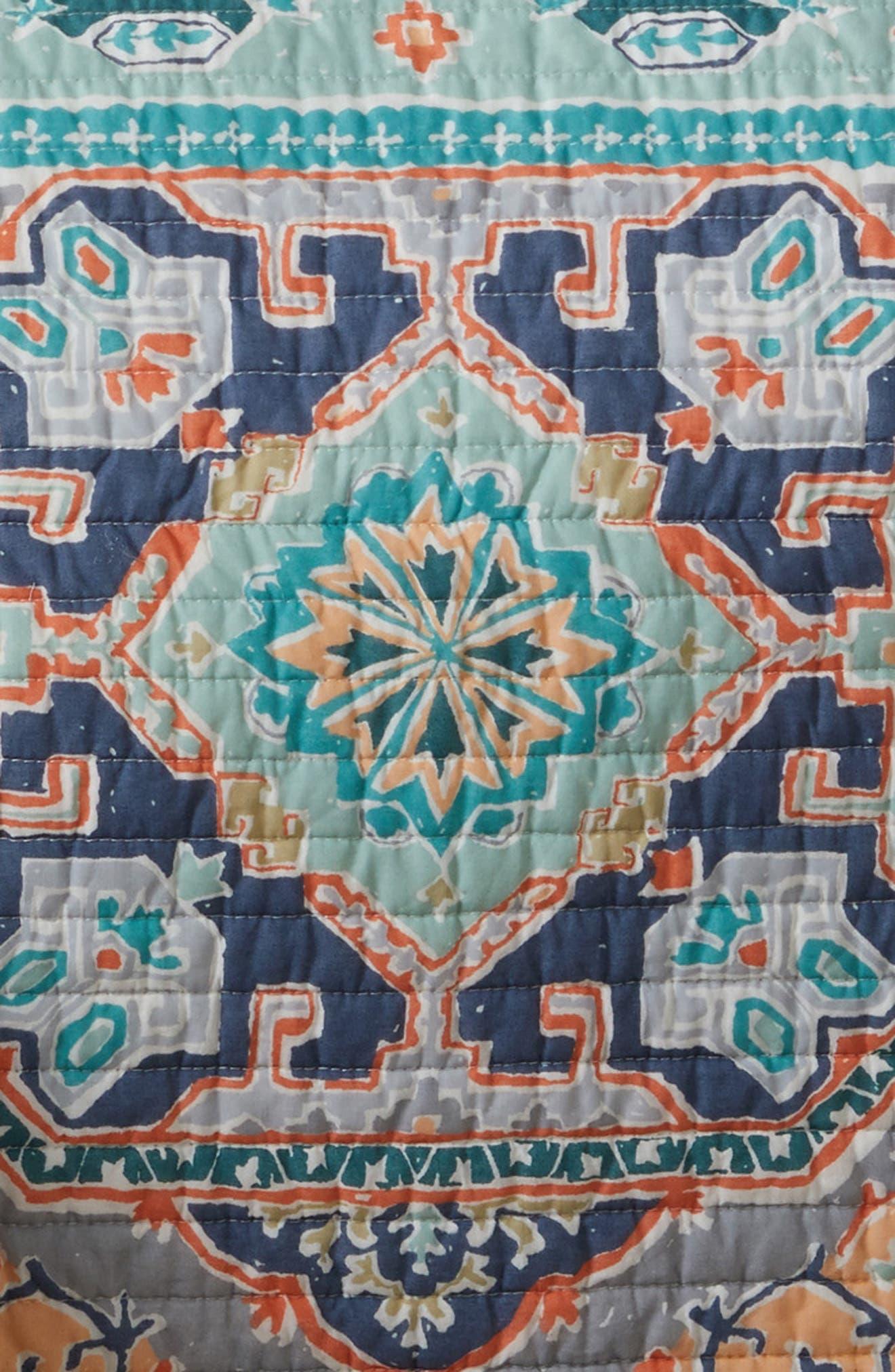 Saida Reversible Quilt,                             Alternate thumbnail 2, color,                             Orange Multi