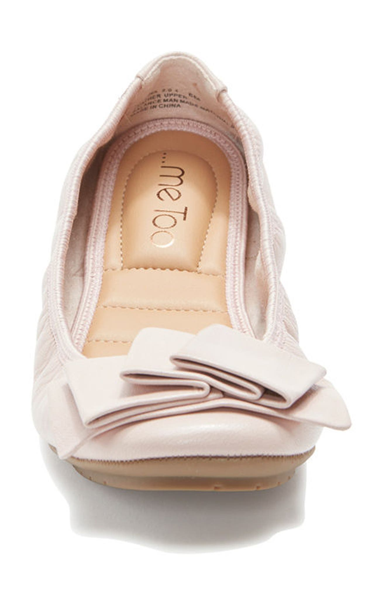 'Lilyana 2.0' Flat,                             Alternate thumbnail 4, color,                             Pink Leather