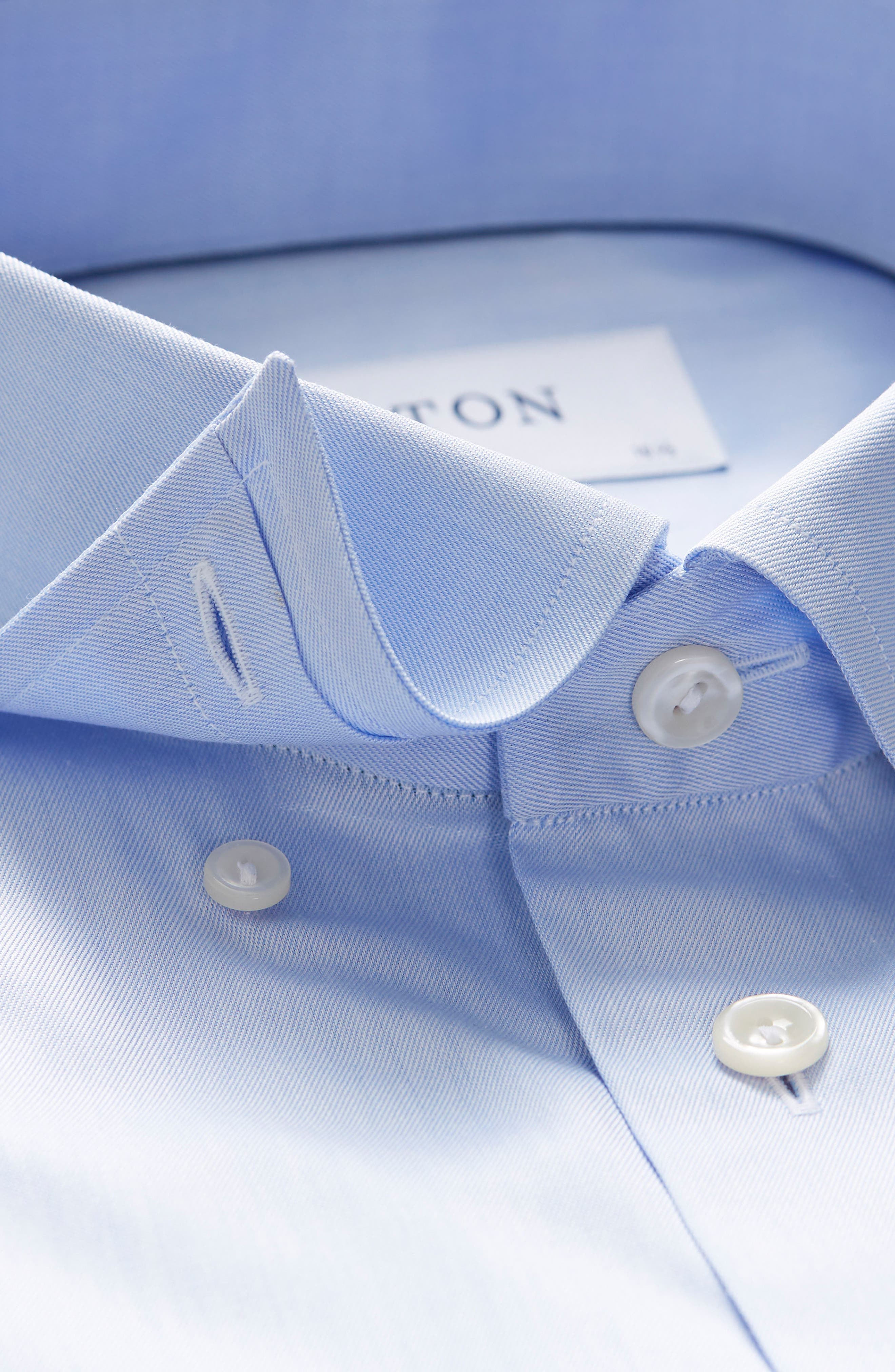 Contemporary Fit Solid Dress Shirt,                             Alternate thumbnail 2, color,                             Light Blue