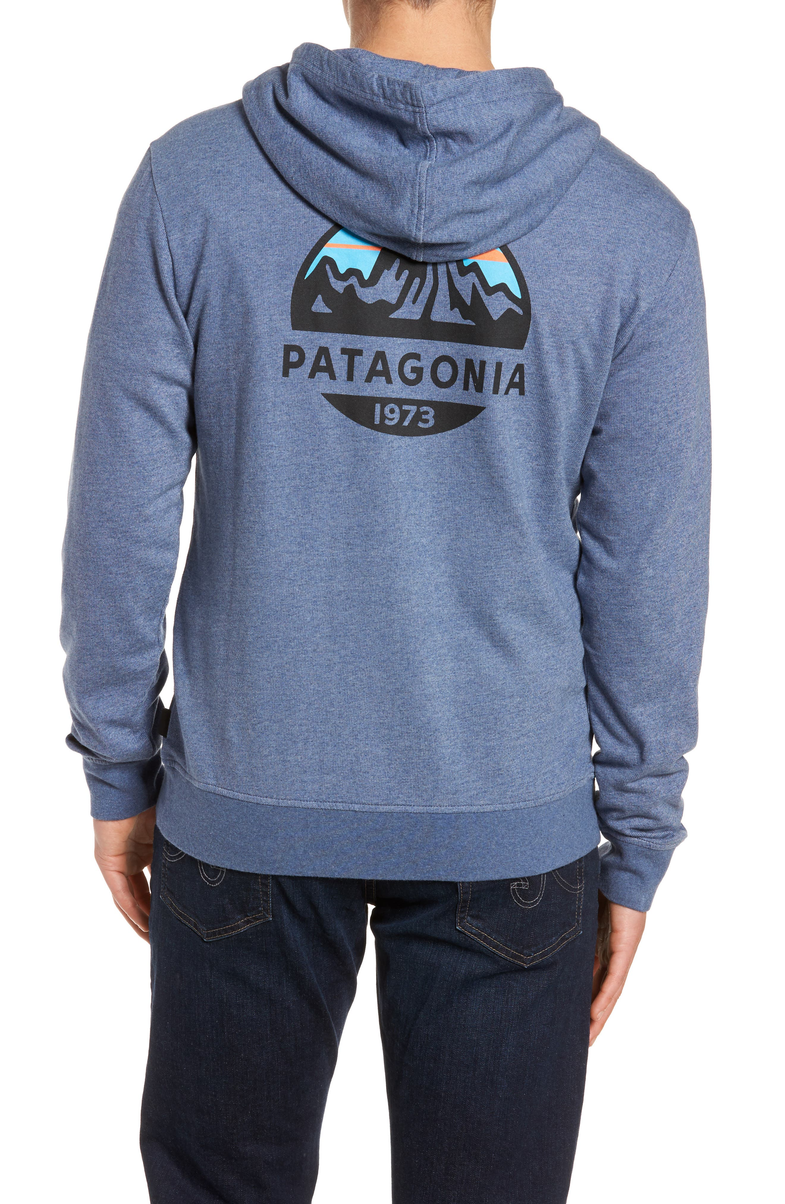 Fitz Roy Frostbite PolyCycle<sup>®</sup> Full Zip Hoodie,                             Alternate thumbnail 2, color,                             Dolomite Blue