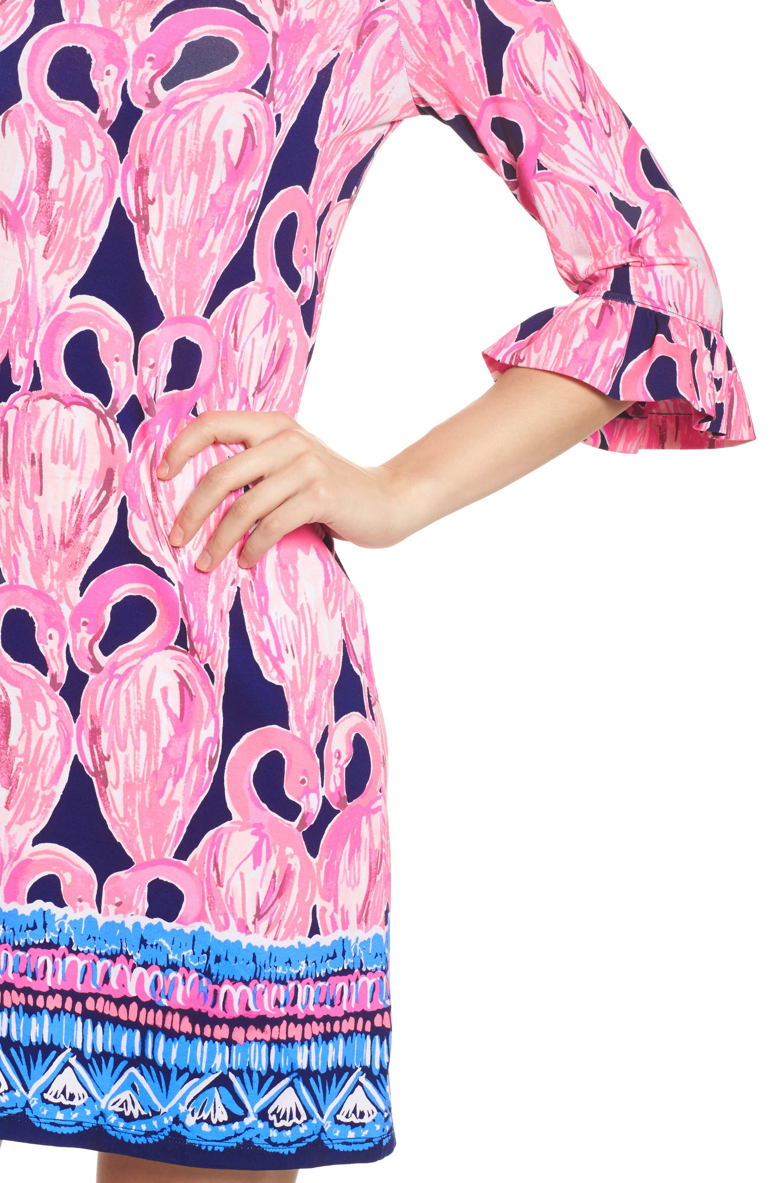 Sophie UPF 50+ Shift Dress,                             Alternate thumbnail 4, color,                             High Tide Via Amor