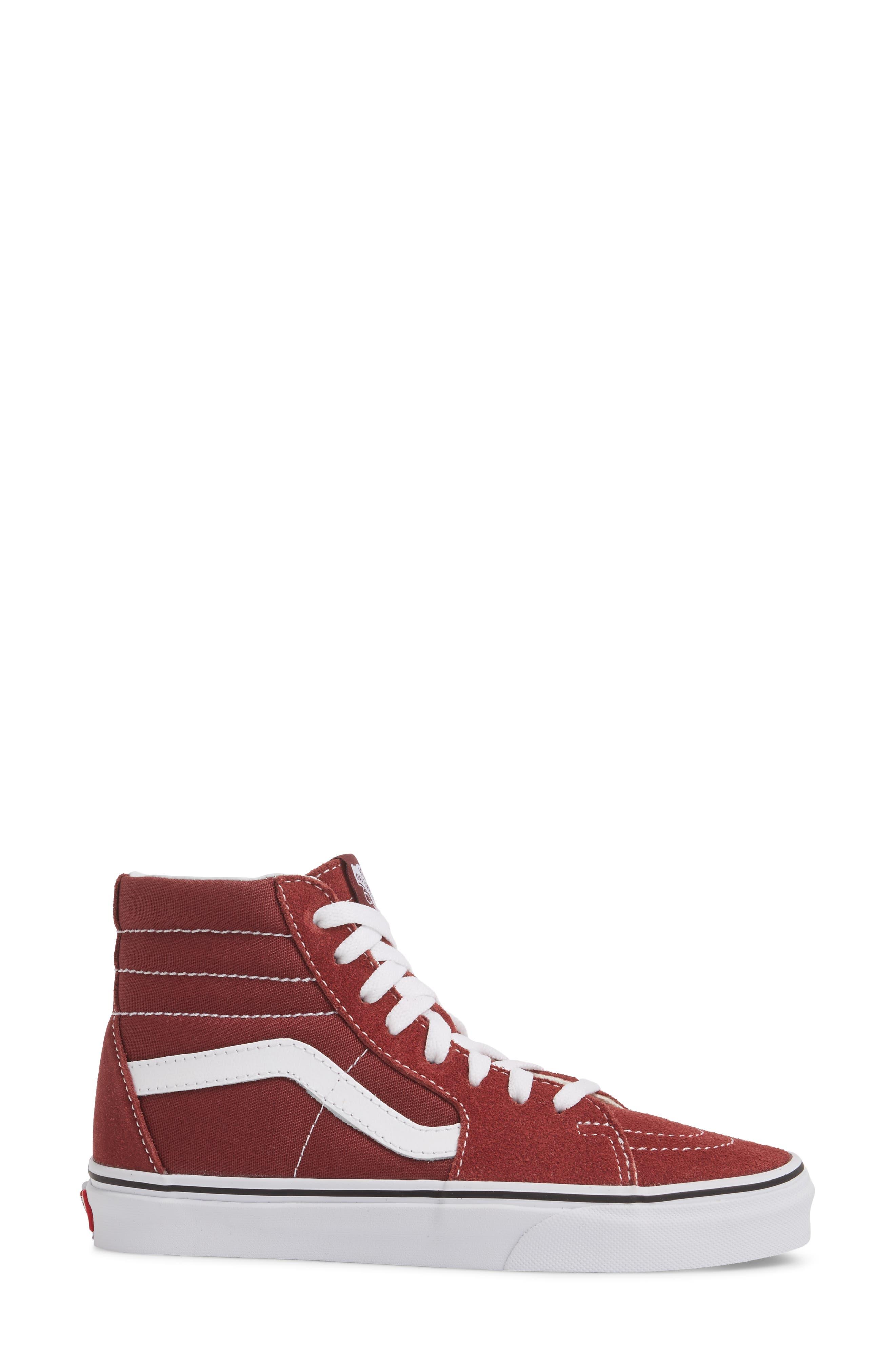 'Sk8-Hi Slim' Sneaker,                             Alternate thumbnail 3, color,                             Apple Butter/ True White
