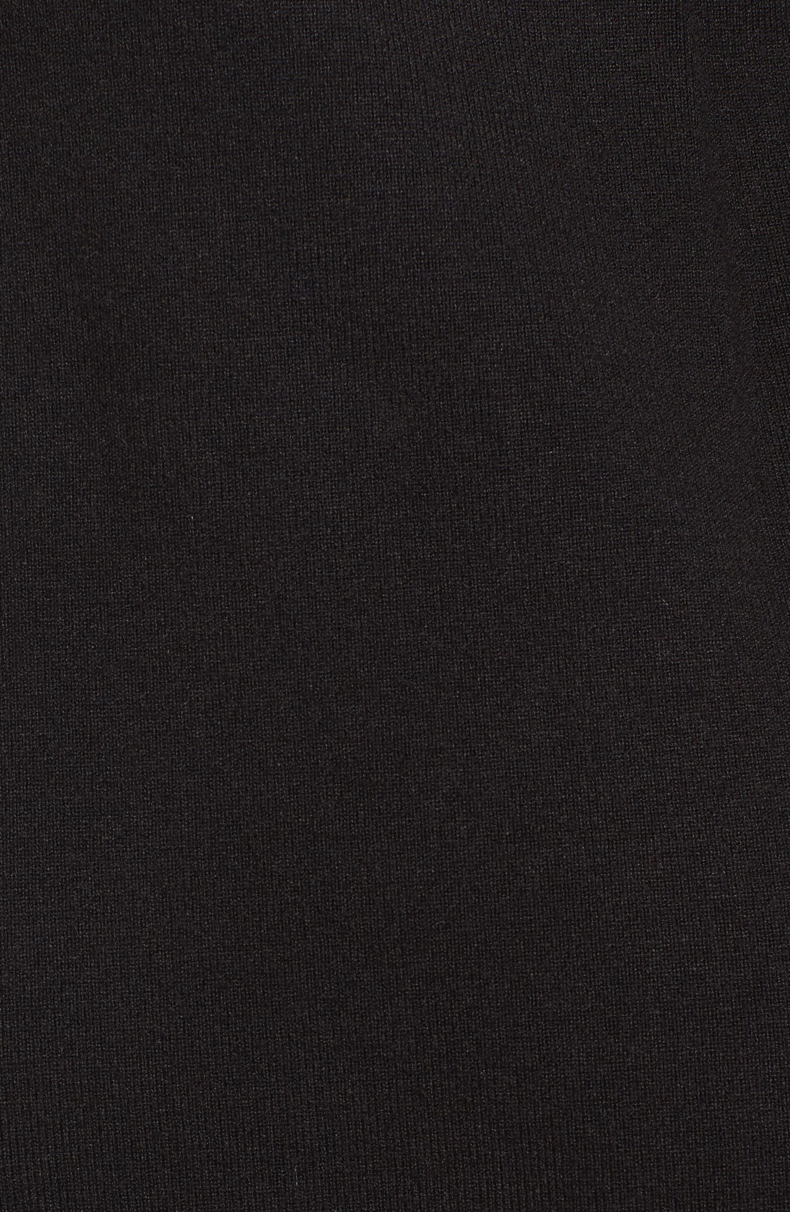 Ann Klein New York Stripe Border Knit Sheath Dress,                             Alternate thumbnail 6, color,                             Black/ White