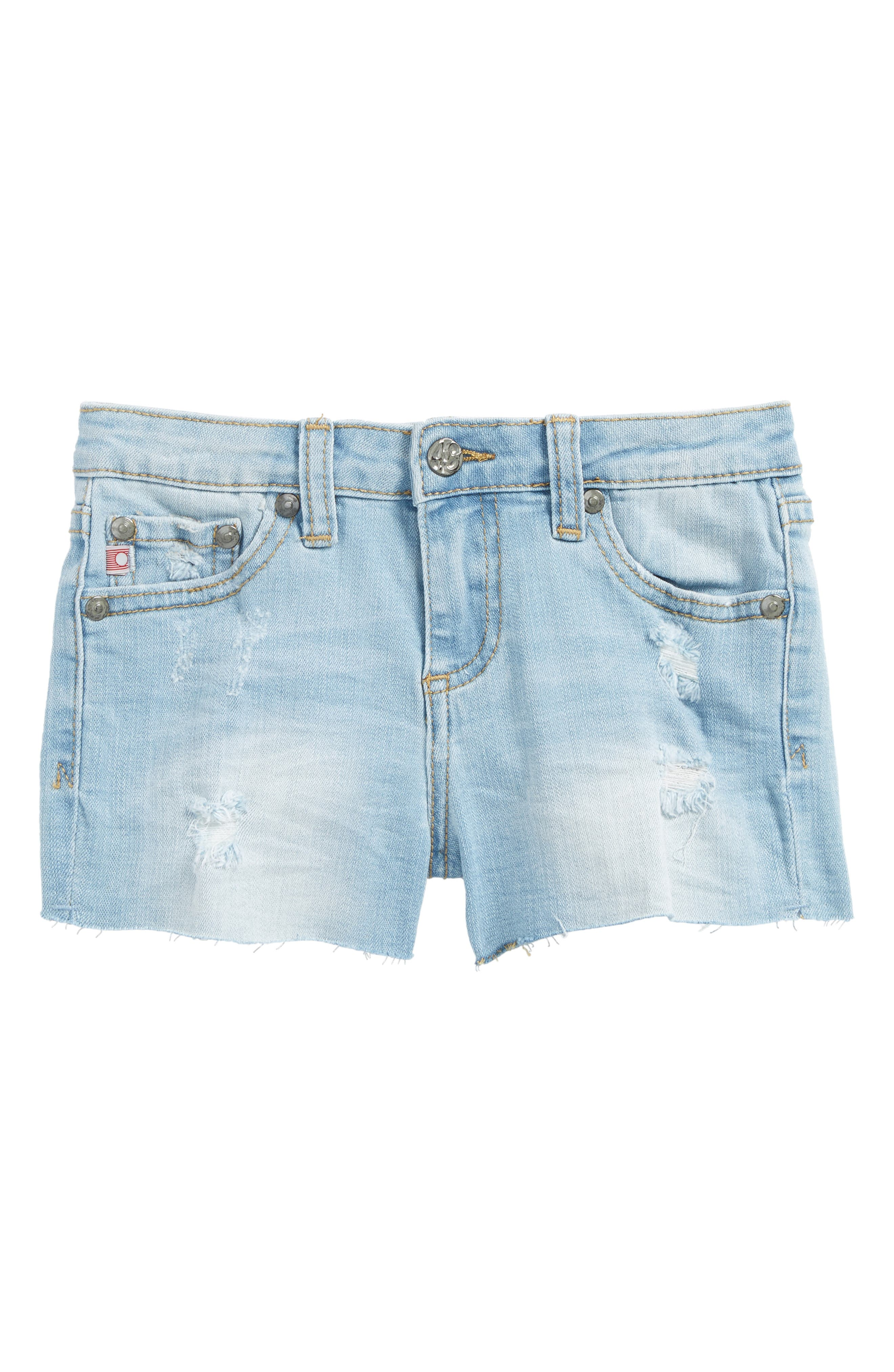Alternate Image 1 Selected - ag adriano goldschmied kids The Shelby Cutoff Shorts (Toddler Girls & Little Girls)