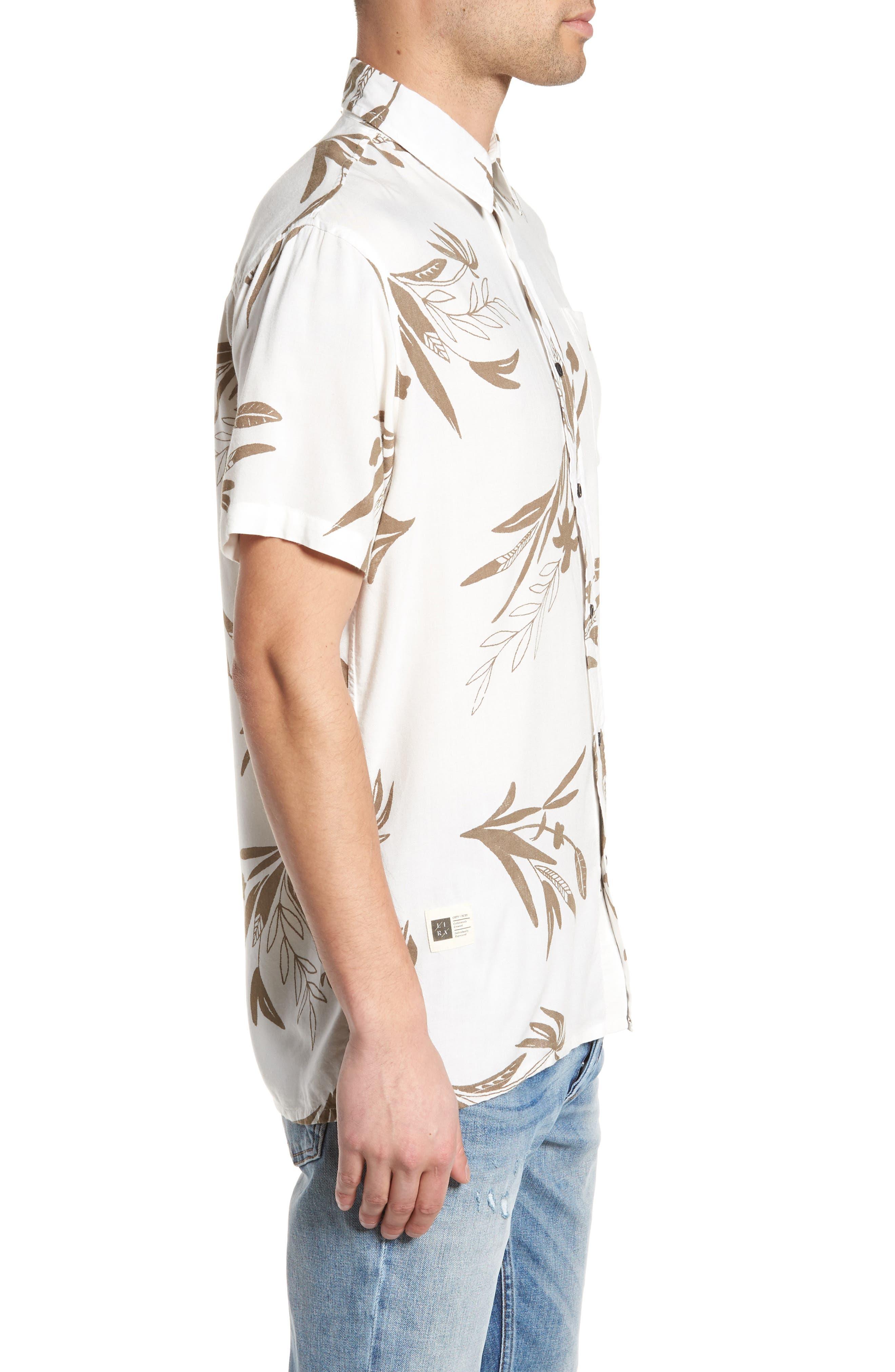 Simmer Short Sleeve Shirt,                             Alternate thumbnail 3, color,                             Vintage White