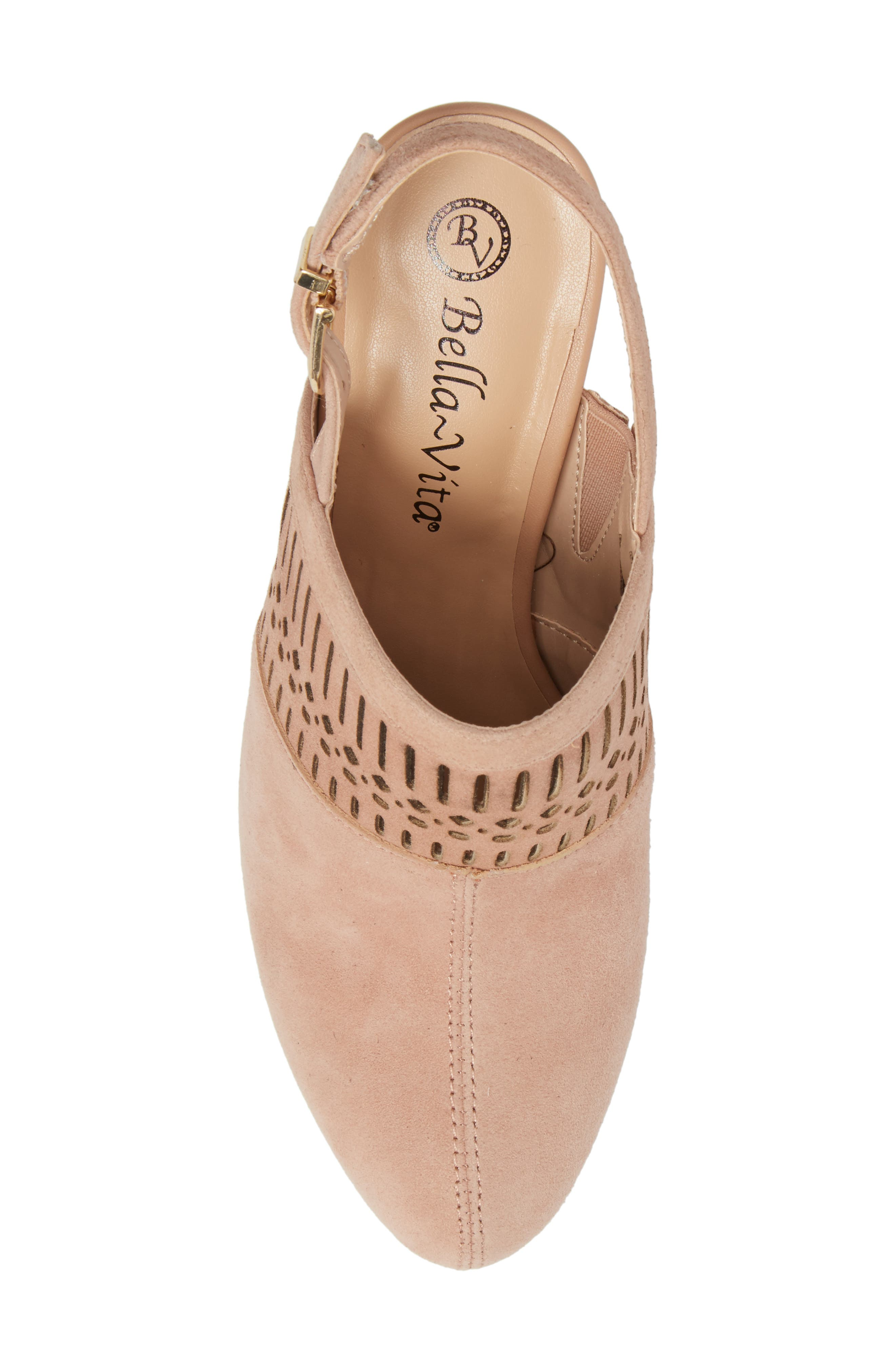 Nox Slingback Perforated Pump,                             Alternate thumbnail 5, color,                             Blush Suede