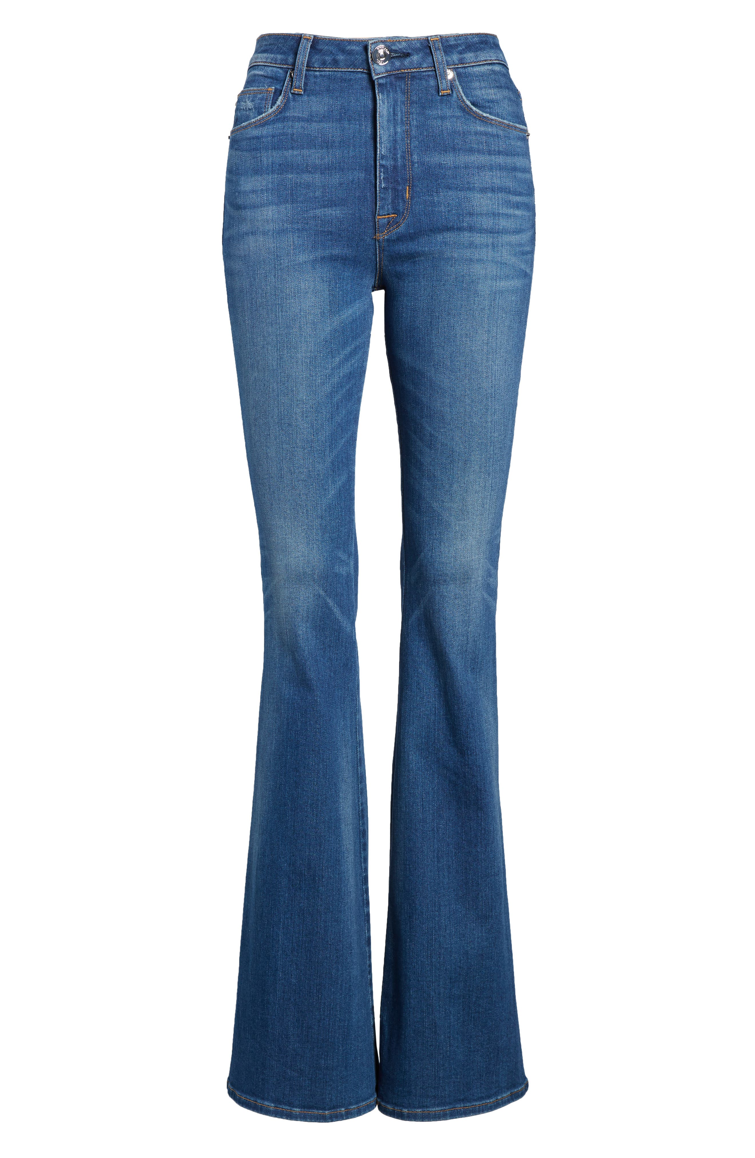 Alternate Image 6  - Hudson Jeans Holly High Waist Flare Jeans (Rogue)