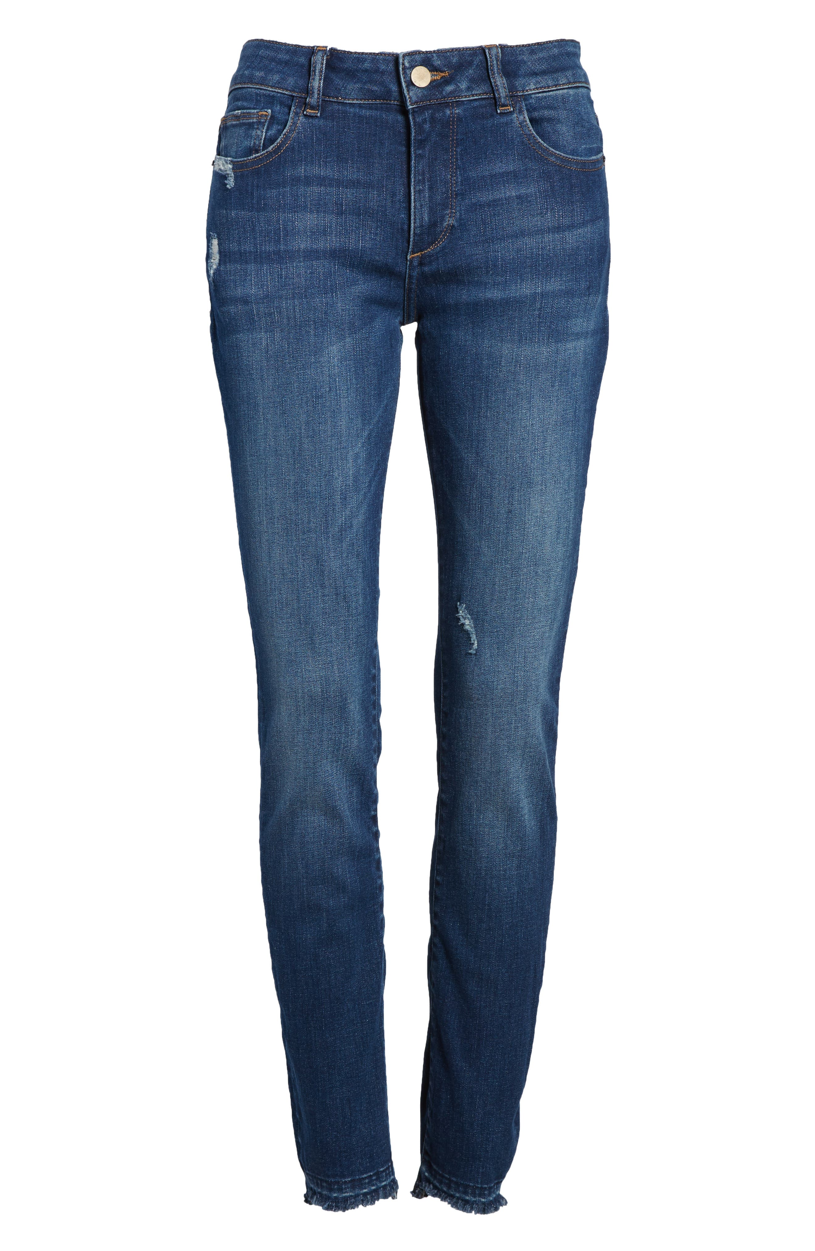 Florence Instasculpt Skinny Jeans,                             Alternate thumbnail 7, color,                             Hughes